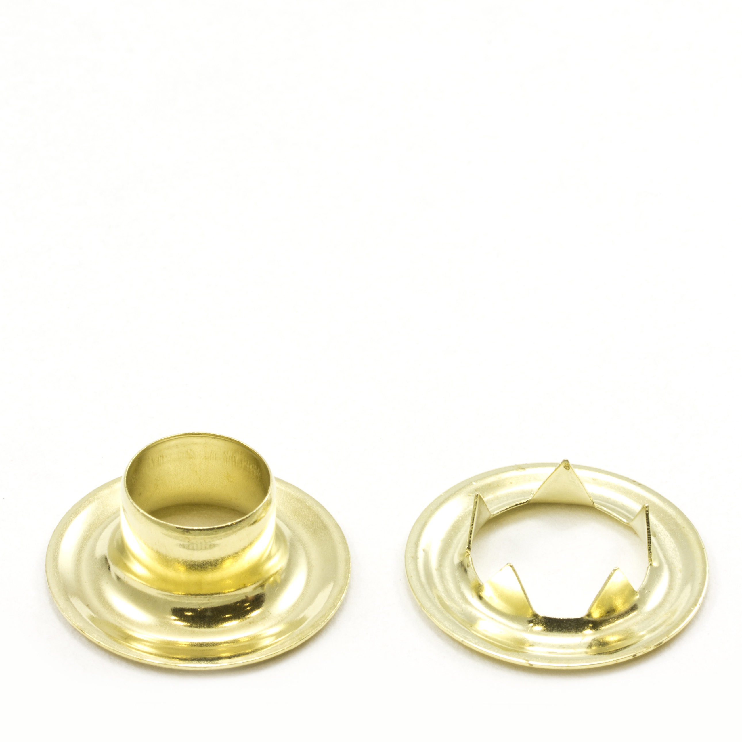 Grommet with Tooth Washer #4 Brass 1/2