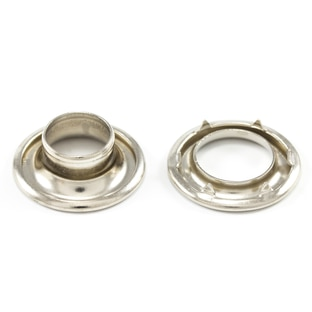 Image for DOT Rolled Rim Grommet with Spur Washer #2 Nickel Plated Brass 7/16