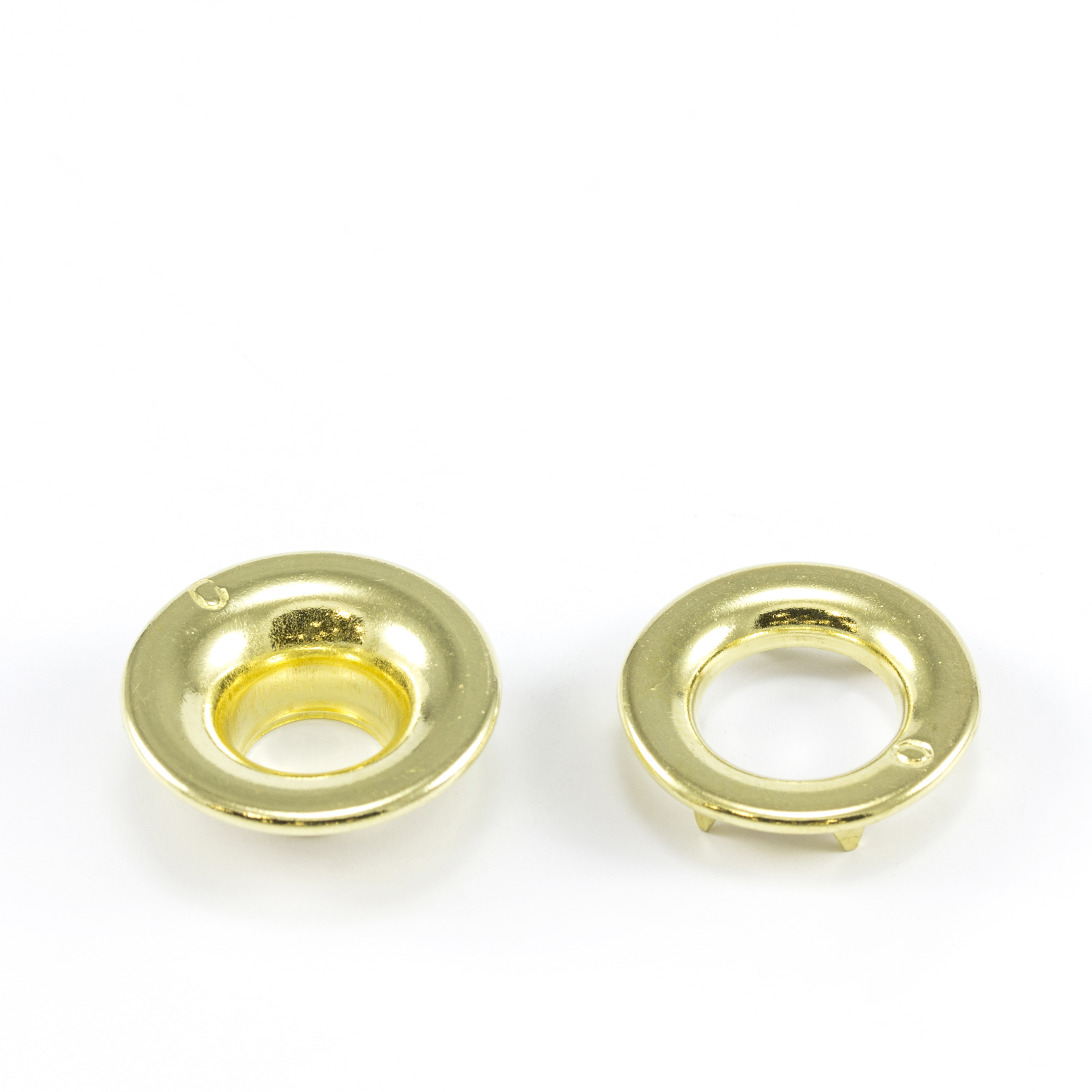Thumbnail Rolled Rim Grommet with Spur Washer #0 Brass 9/32 1