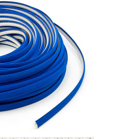 Thumbnail Steel Stitch Sunbrella Covered ZipStrip #6001 Pacific Blue 160' Full Rolls Only 1