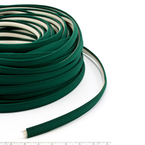 Thumbnail Steel Stitch Sunbrella Covered ZipStrip with Tenara Thread #4637 Forest Green 160' Full Rolls Only 1