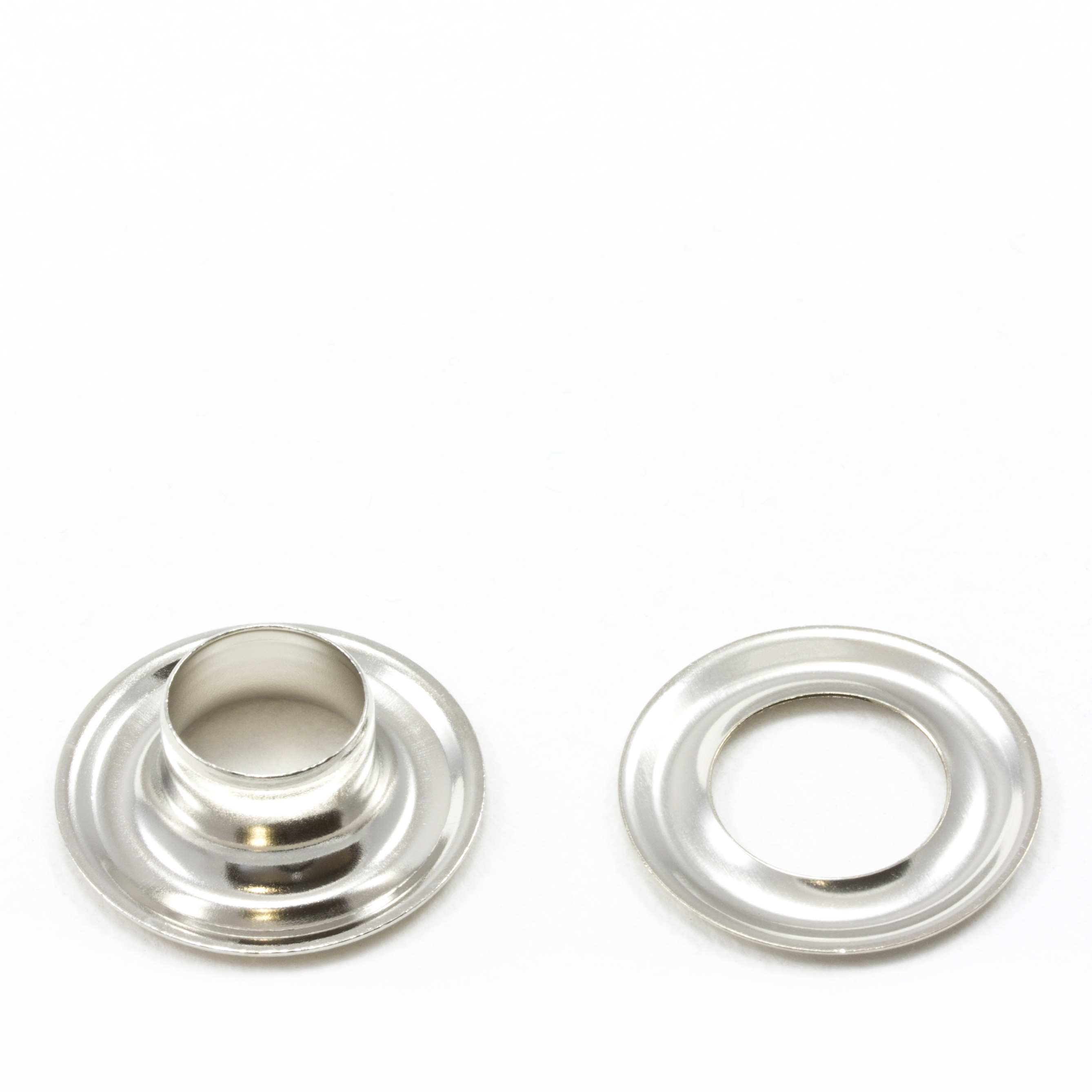 Grommet with Plain Washer #3 Brass Nickel Plated 7/16