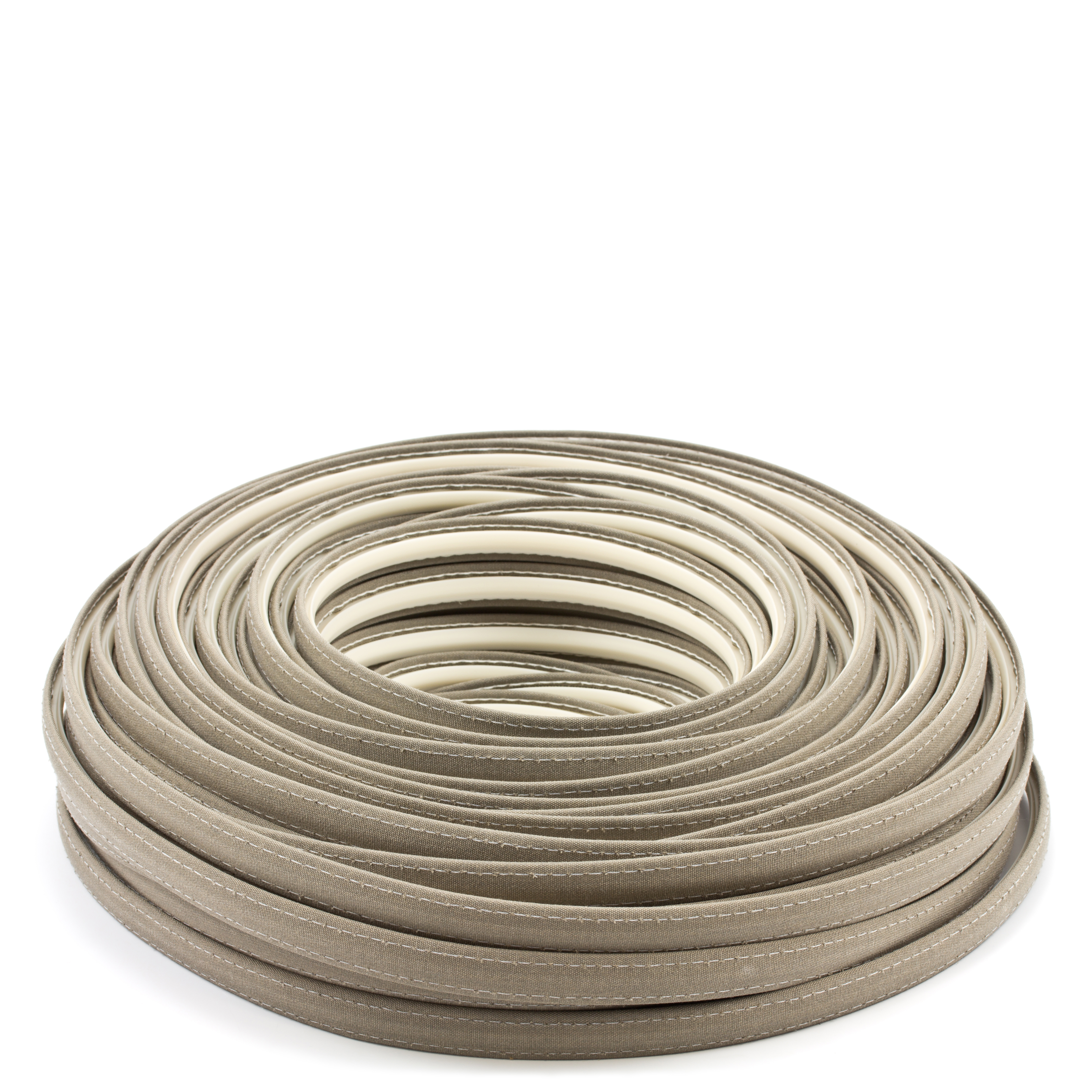 Thumbnail Steel Stitch Sunbrella Covered ZipStrip with Tenara Thread #4648 Taupe 160' Full Rolls Only 1