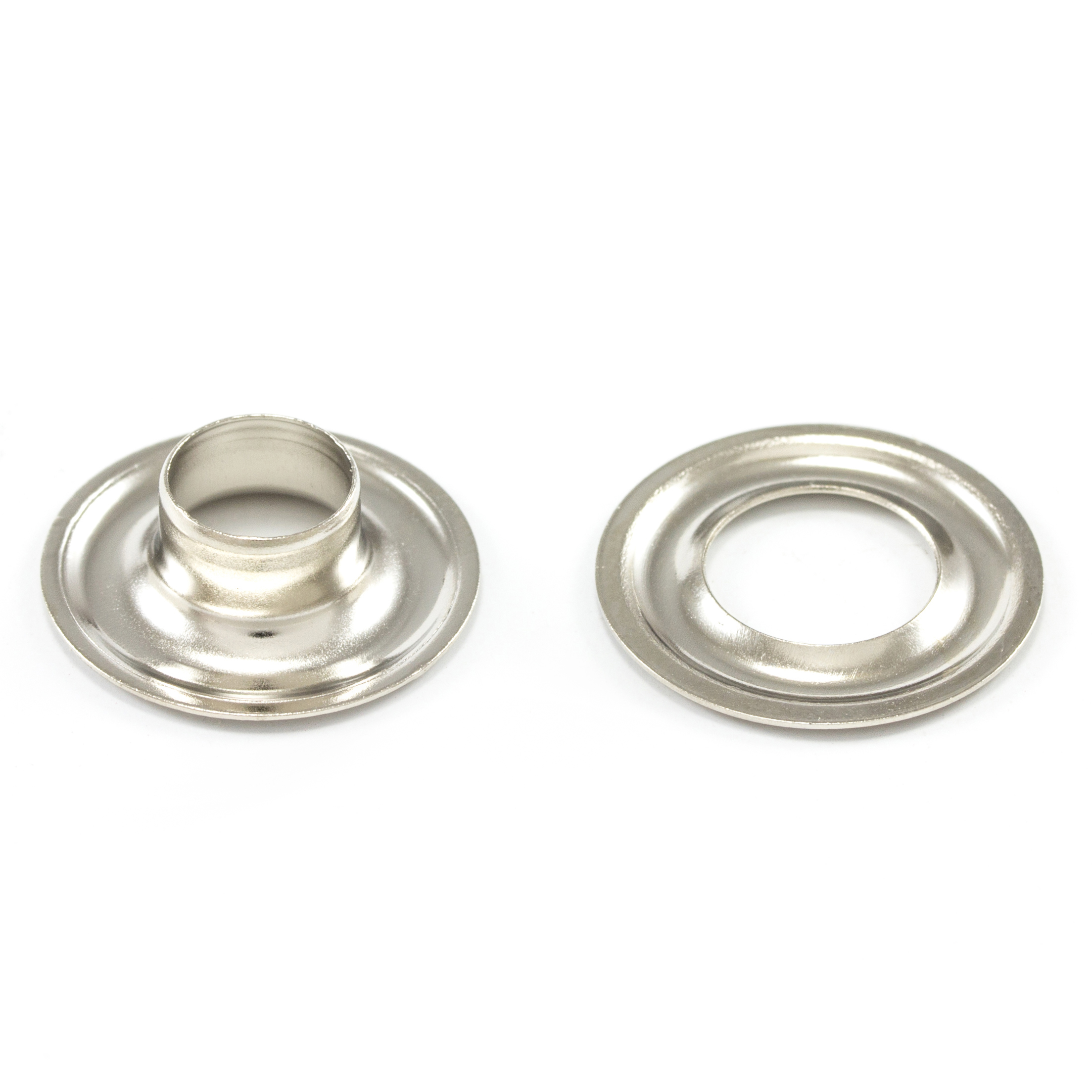 DOT Grommet with Plain Washer #1 Nickel Plated Brass 9/32