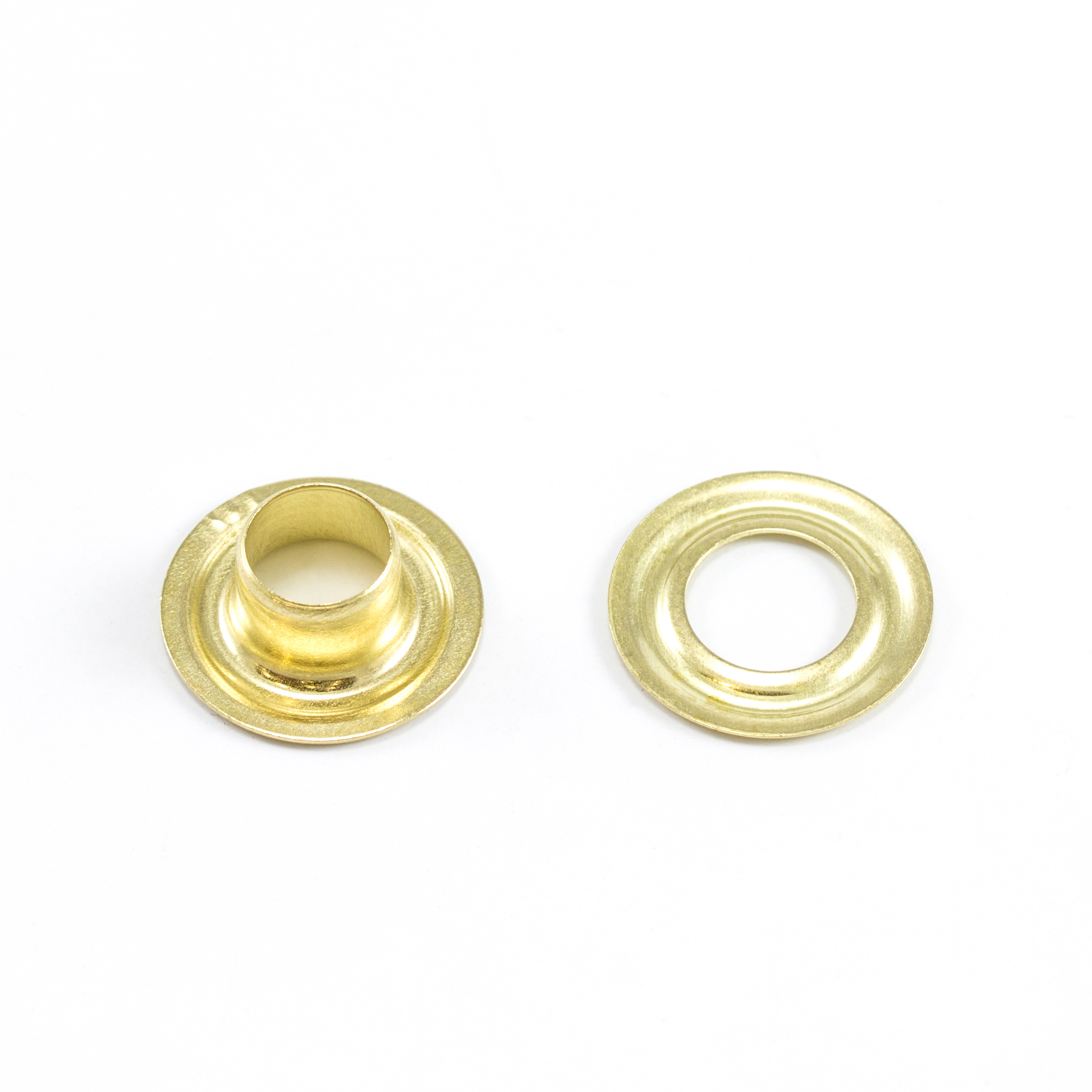 DOT Grommet with Plain Washer #0 Brass 1/4