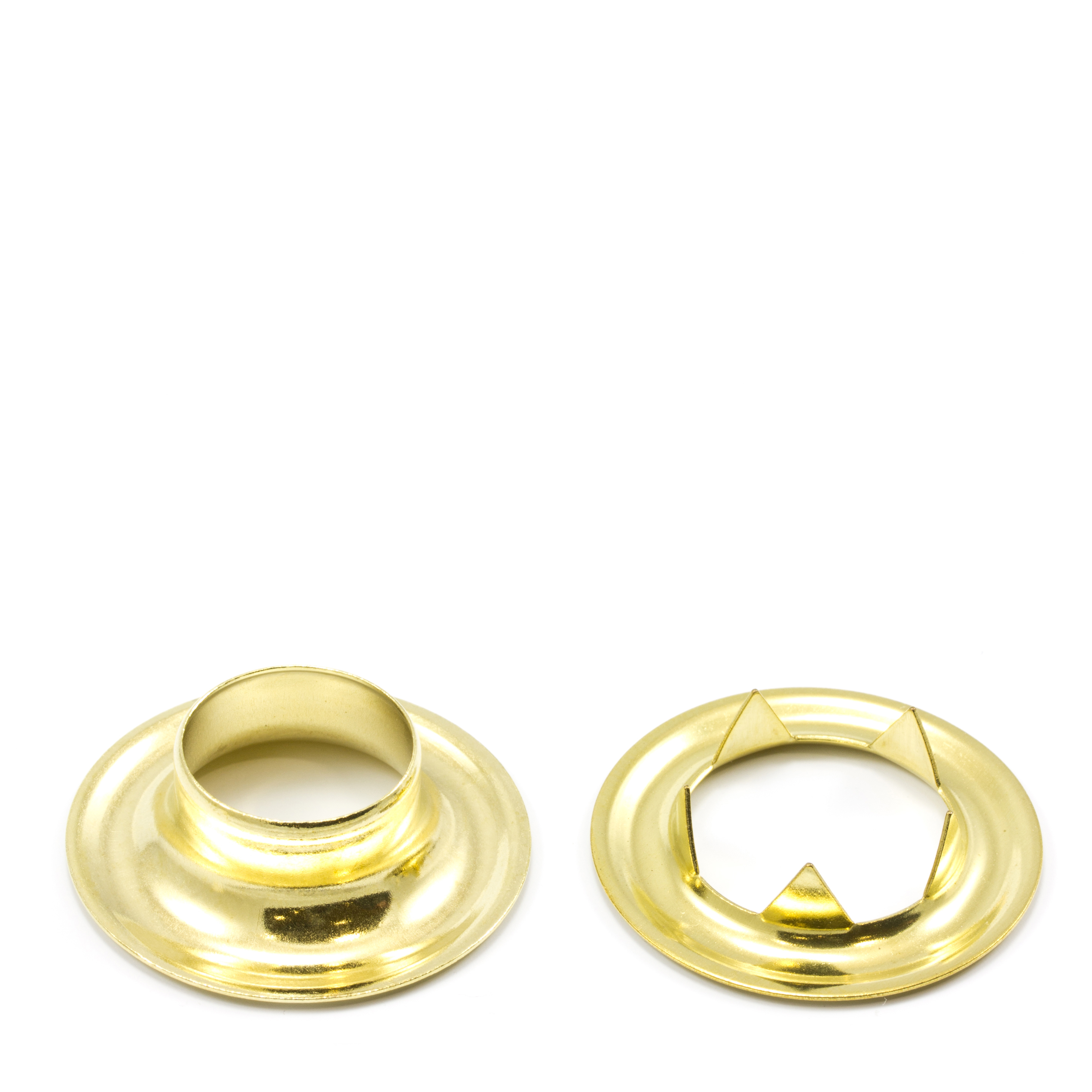 Grommet with Tooth Washer #5 Brass 5/8