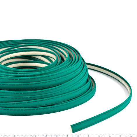 Thumbnail Steel Stitch Sunbrella Covered ZipStrip #6045 Seagrass Green 160' Full Rolls Only 1