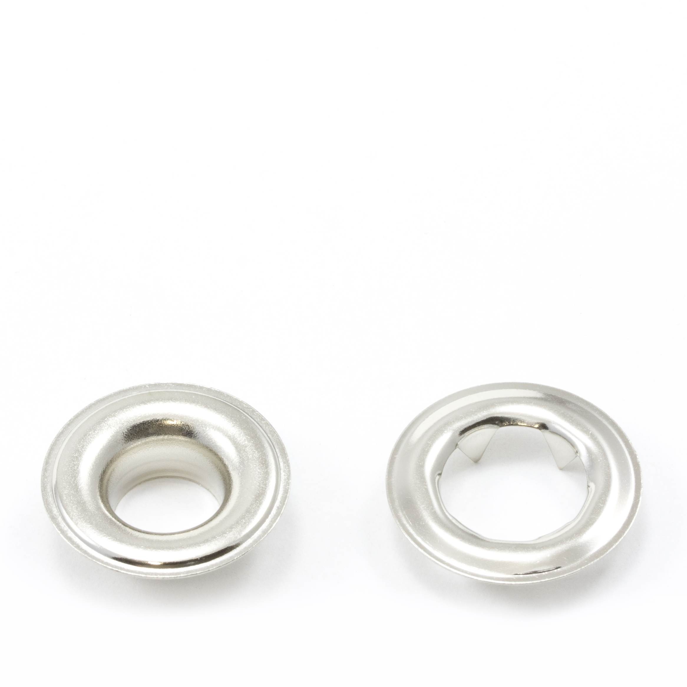 Thumbnail Grommet with Tooth Washer #2 Brass Nickel Plated 3/8 1