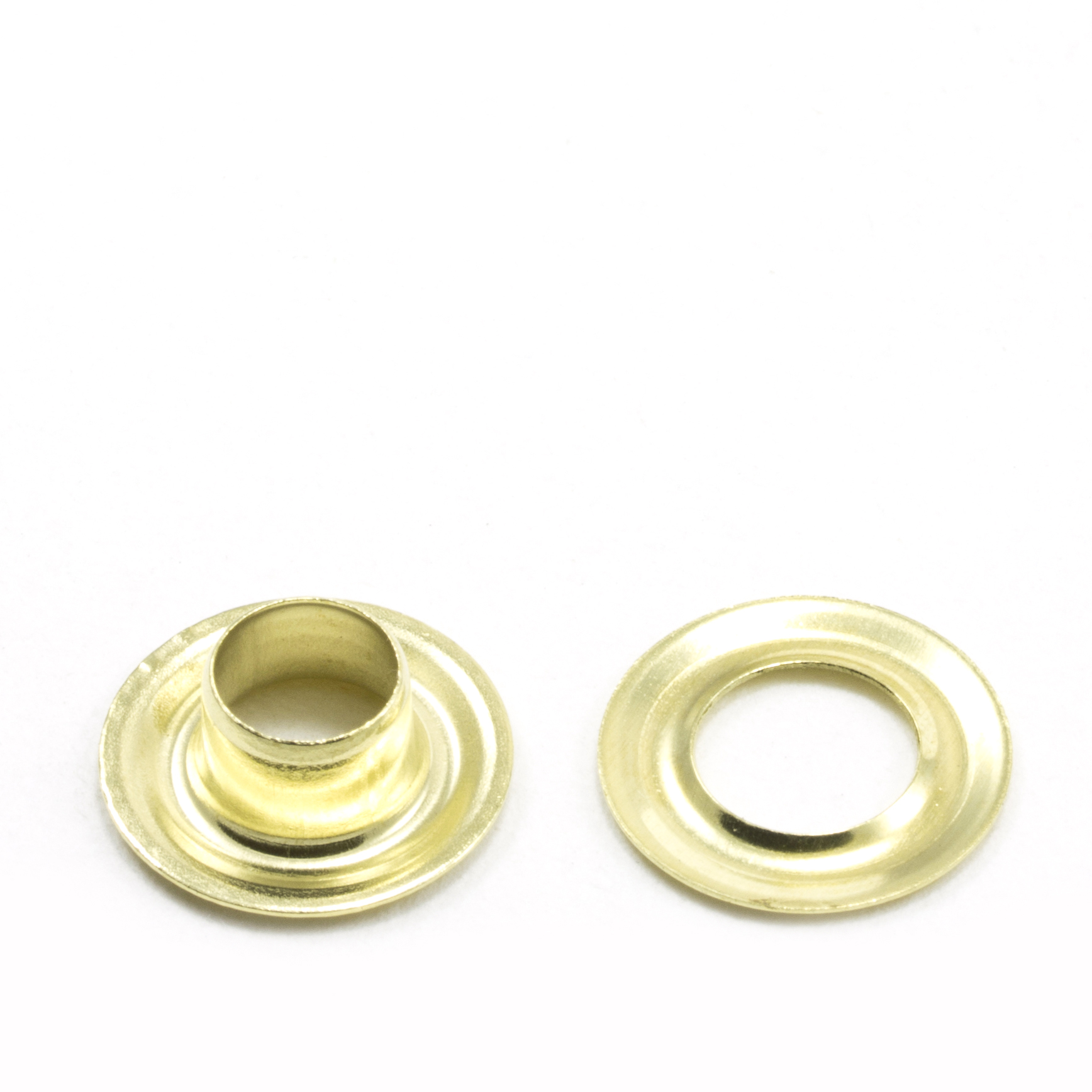 Grommet with Plain Washer #0 Brass 1/4