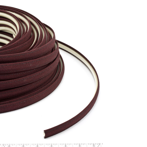 Thumbnail Steel Stitch Sunbrella Covered ZipStrip #6040 Black Cherry 160' Full Rolls Only 1