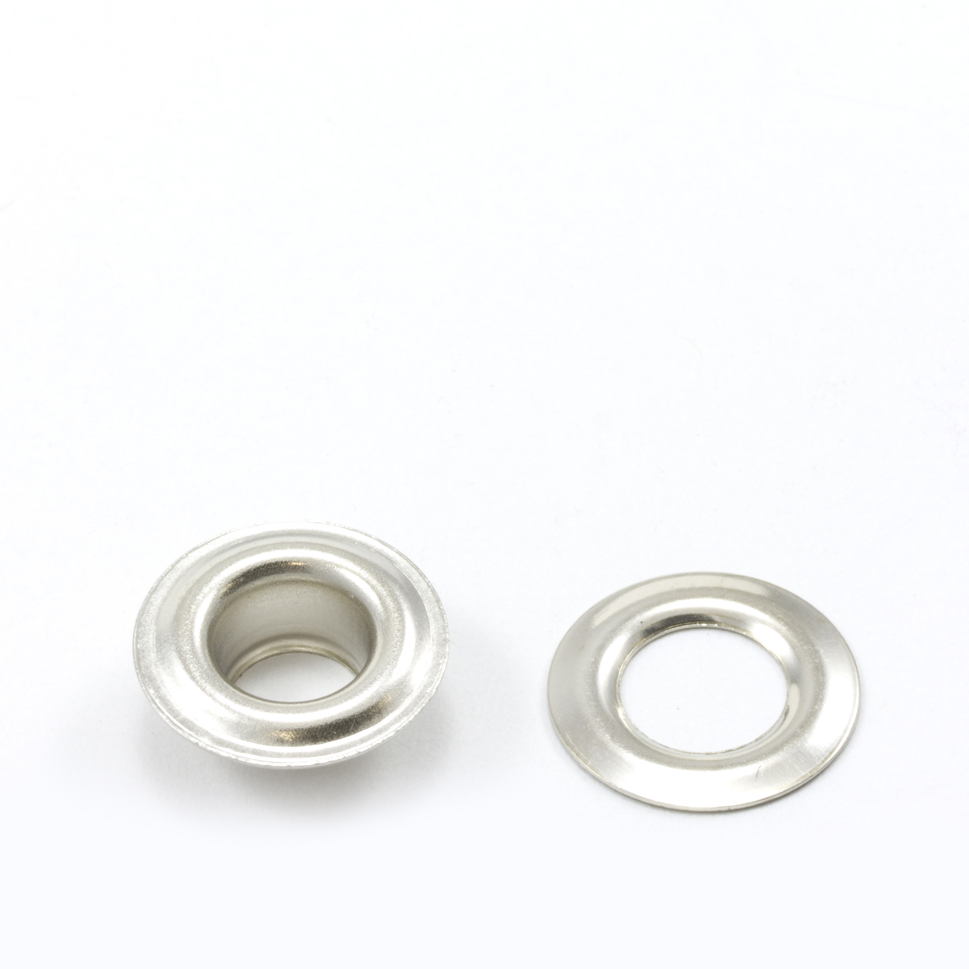 Thumbnail Grommet with Plain Washer #0 Brass Nickel Plated 1/4 1