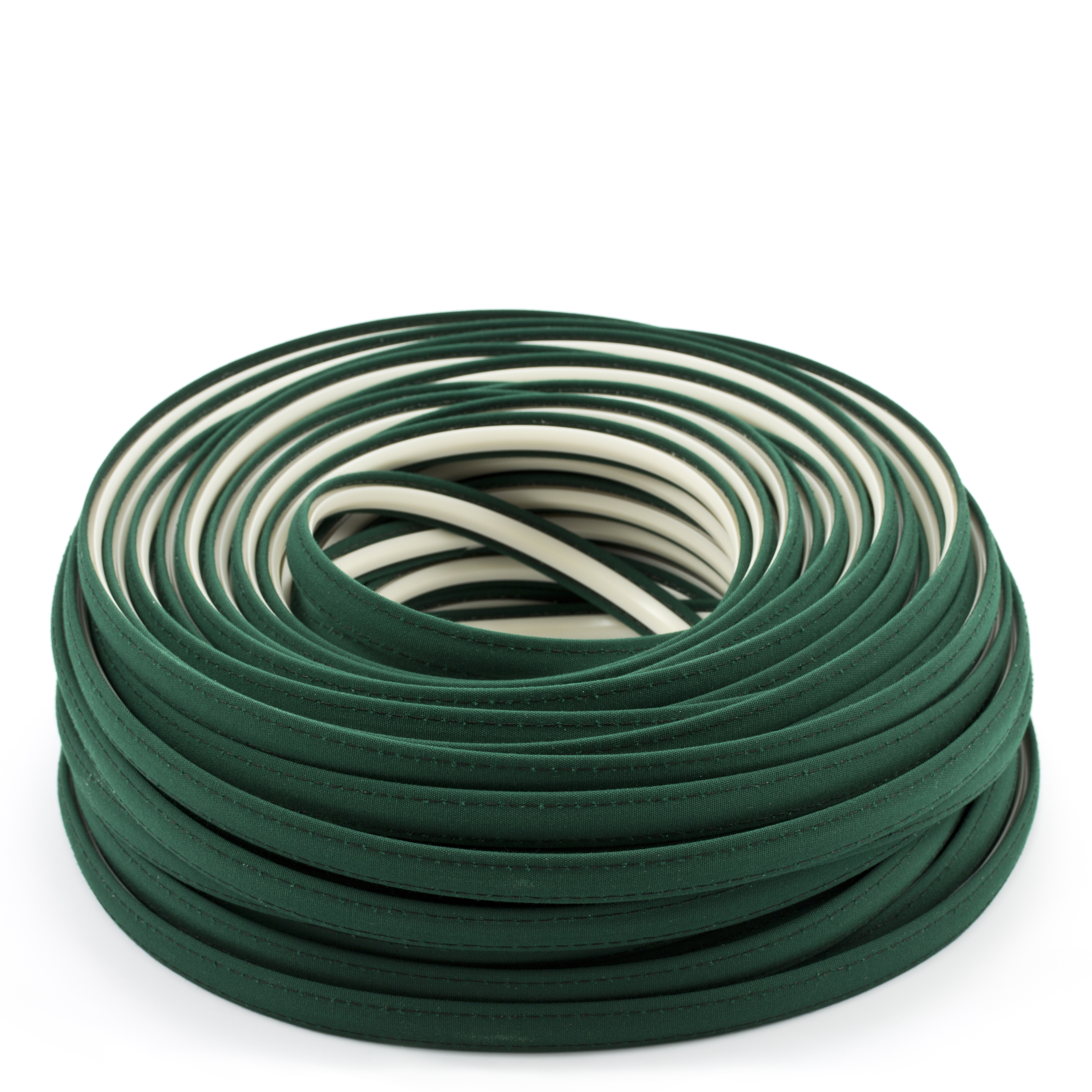 Steel Stitch Sunbrella Covered ZipStrip with Tenara Thread #4637 Forest Green 160' Full Rolls Only