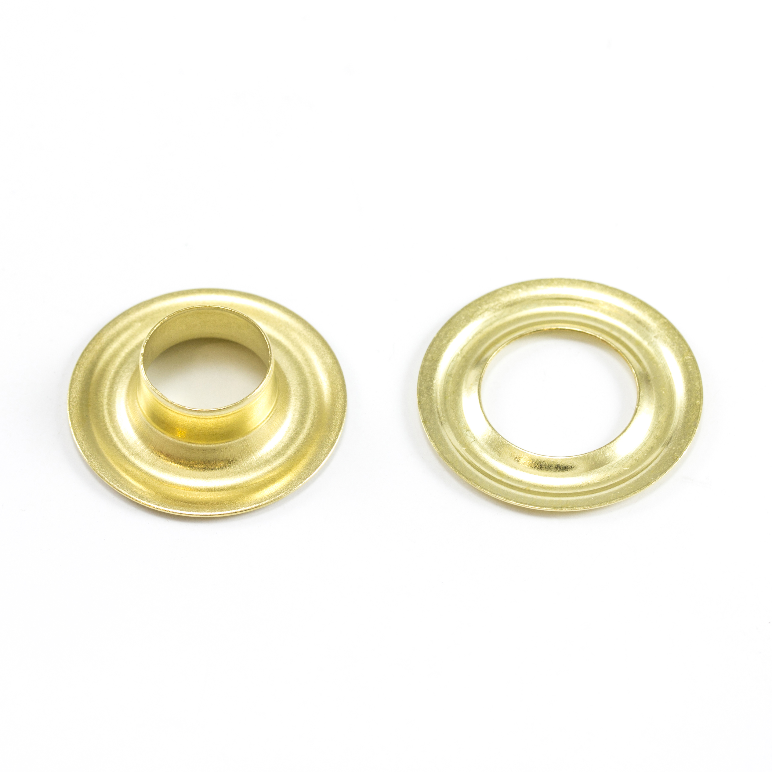 DOT Grommet with Plain Washer #2 Brass 3/8