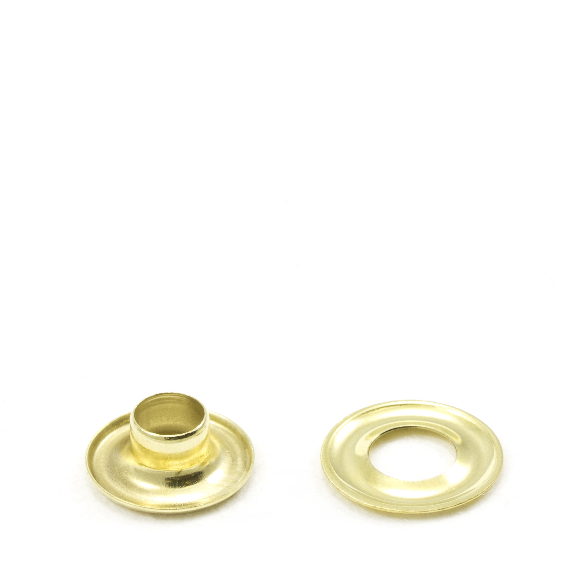 Grommet with Plain Washer #00 Brass 3/16