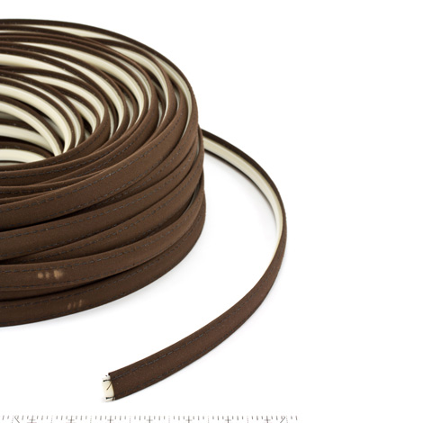 Thumbnail Steel Stitch Sunbrella Covered ZipStrip with Tenara Thread #4621 Brown 160' Full Rolls Only 1