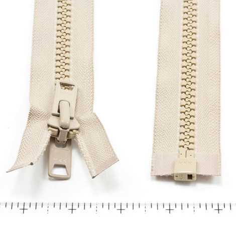 Thumbnail YKK® VISLON® #10 Separating Zipper Automatic Lock Short Double Pull Metal Slider #VFUVOL-107 DX E 72 2