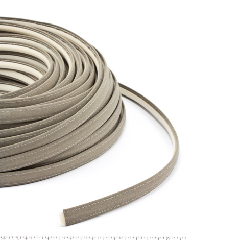 Steel Stitch Sunbrella Covered ZipStrip with Tenara Thread #4648 Taupe 160' Full Rolls Only