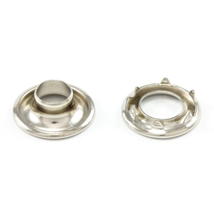 Image for DOT Rolled Rim Grommet with Spur Washer #0 Nickel Plated Brass 9/32