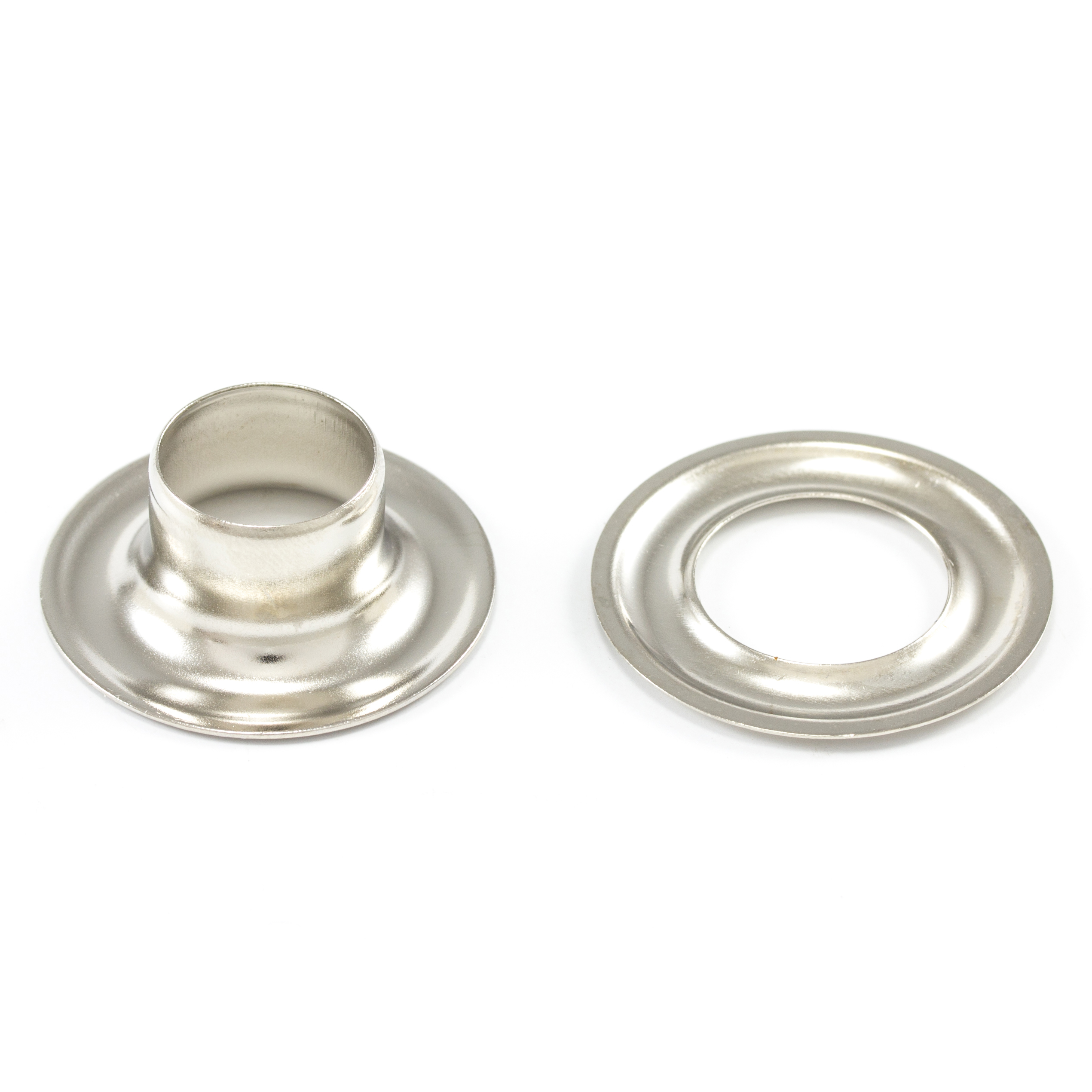 DOT Grommet with Plain Washer #4 Nickel Plated Brass 1/2