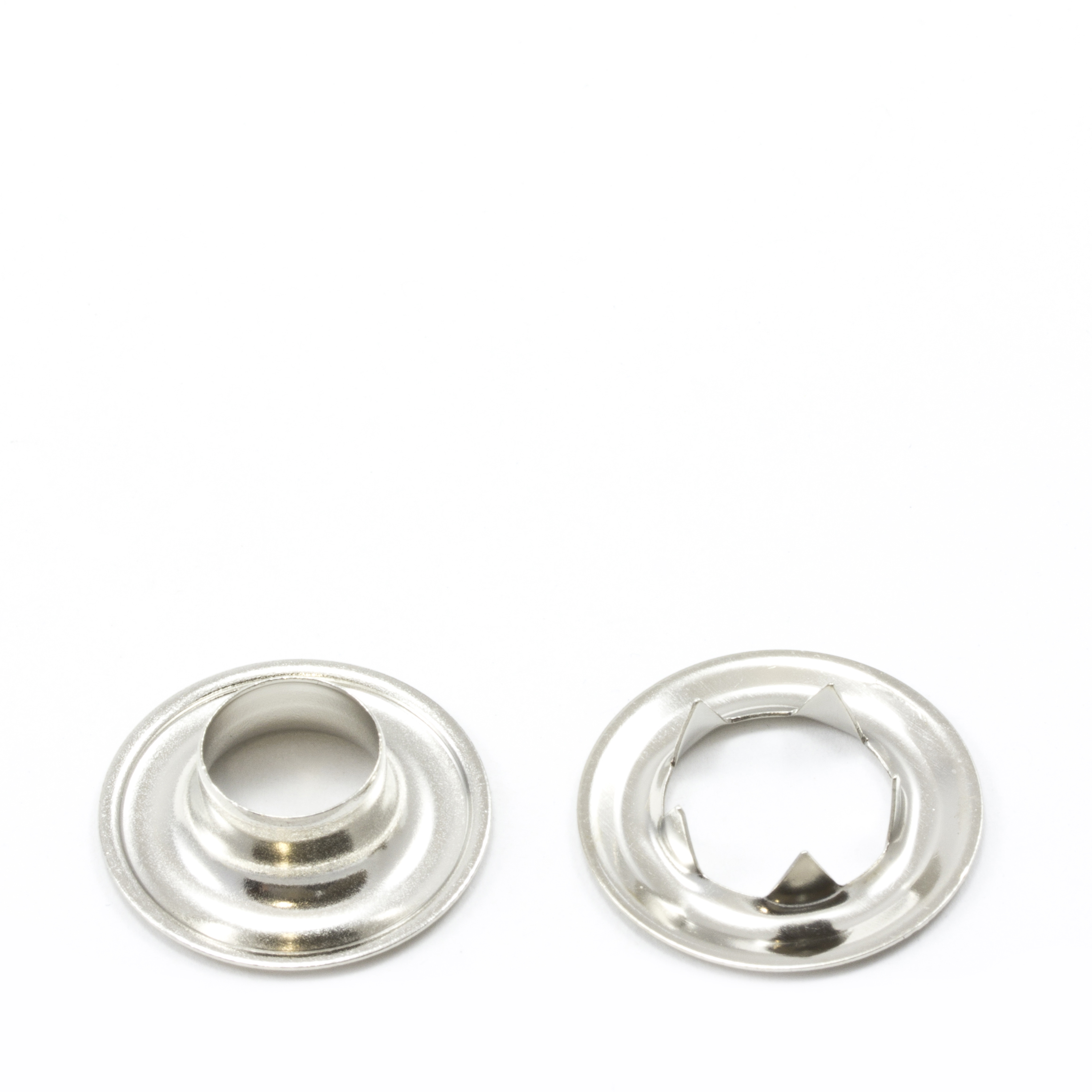 Grommet with Tooth Washer #2 Brass Nickel Plated 3/8