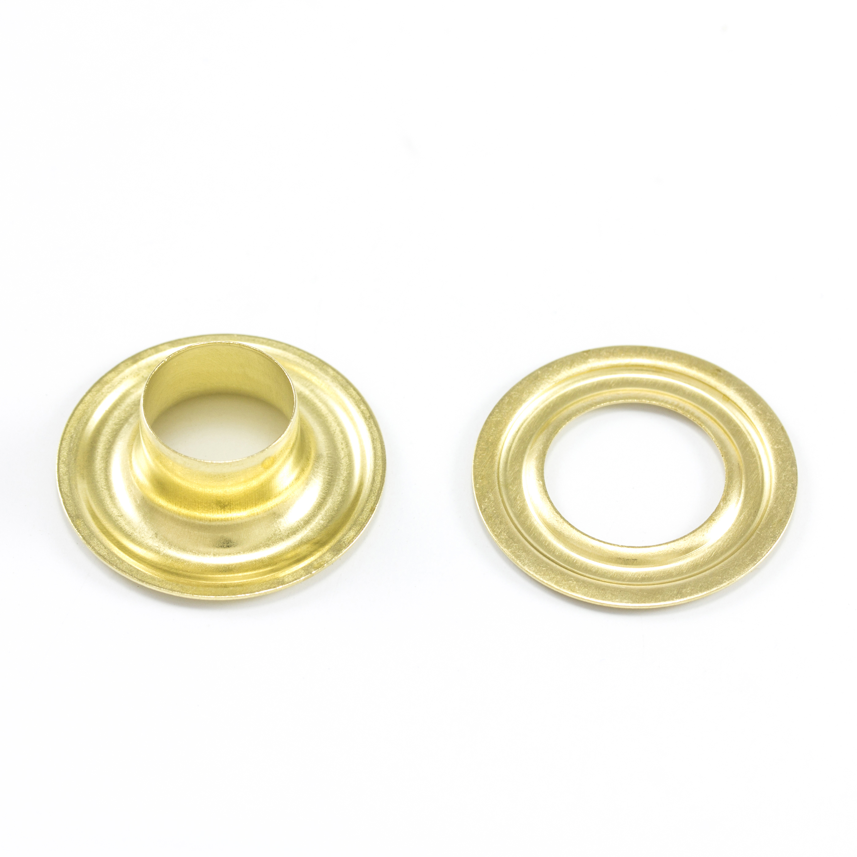 DOT Grommet with Plain Washer #3 Brass 7/16