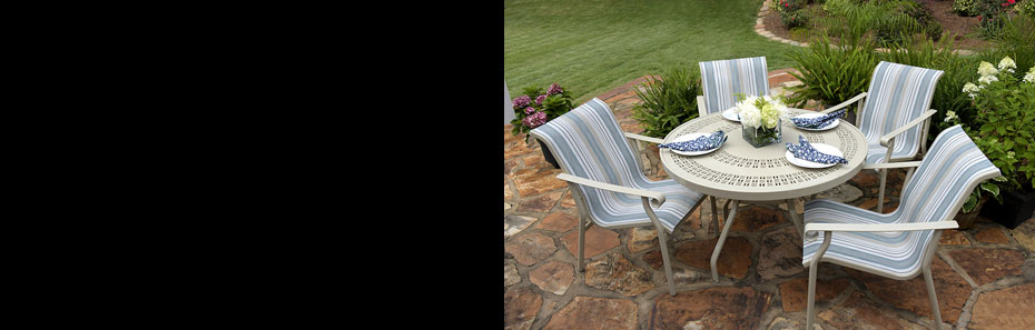 patio furniture with sling fabric