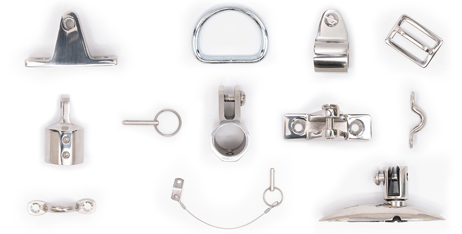 assorted marine hardware products