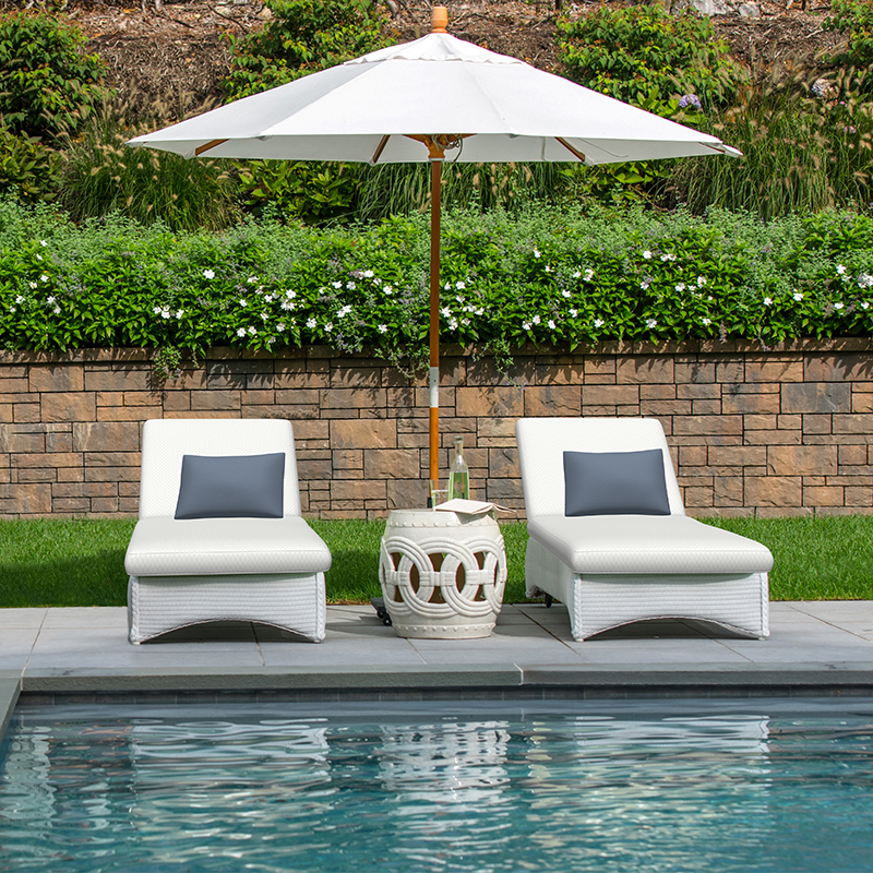 "Sunbrella 54"" Dimple White rendering"