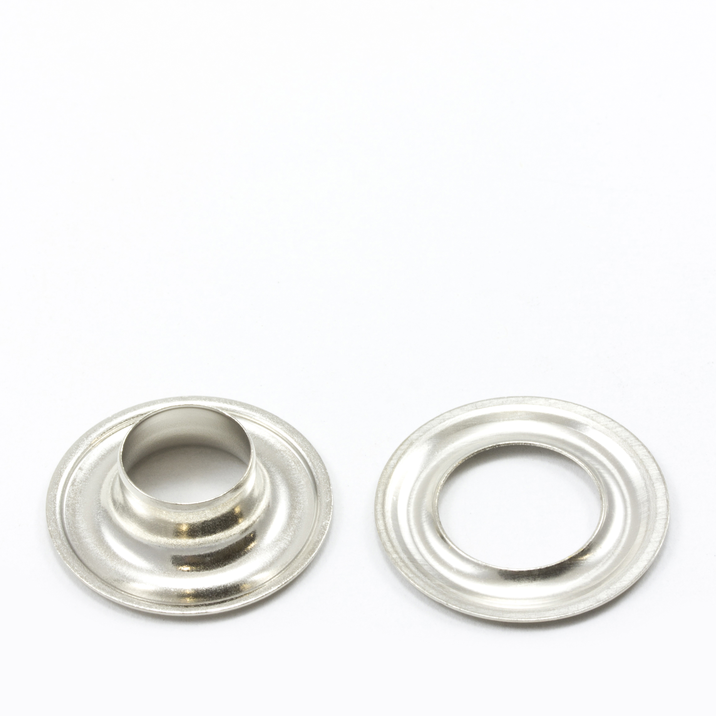 Grommet with Plain Washer #2 Brass Nickel Plated 3/8