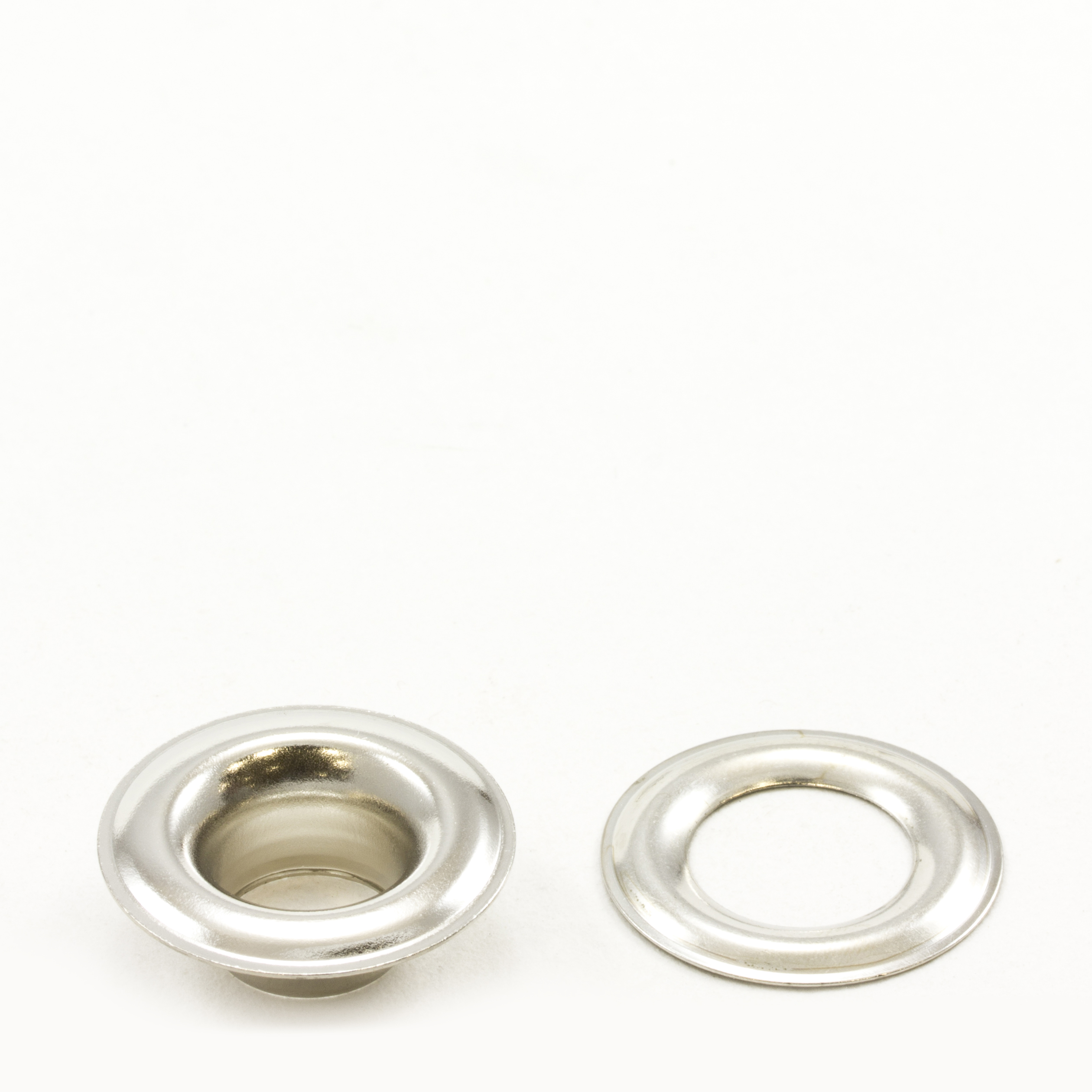 Thumbnail Grommet with Plain Washer #3 Brass Nickel Plated 7/16 1