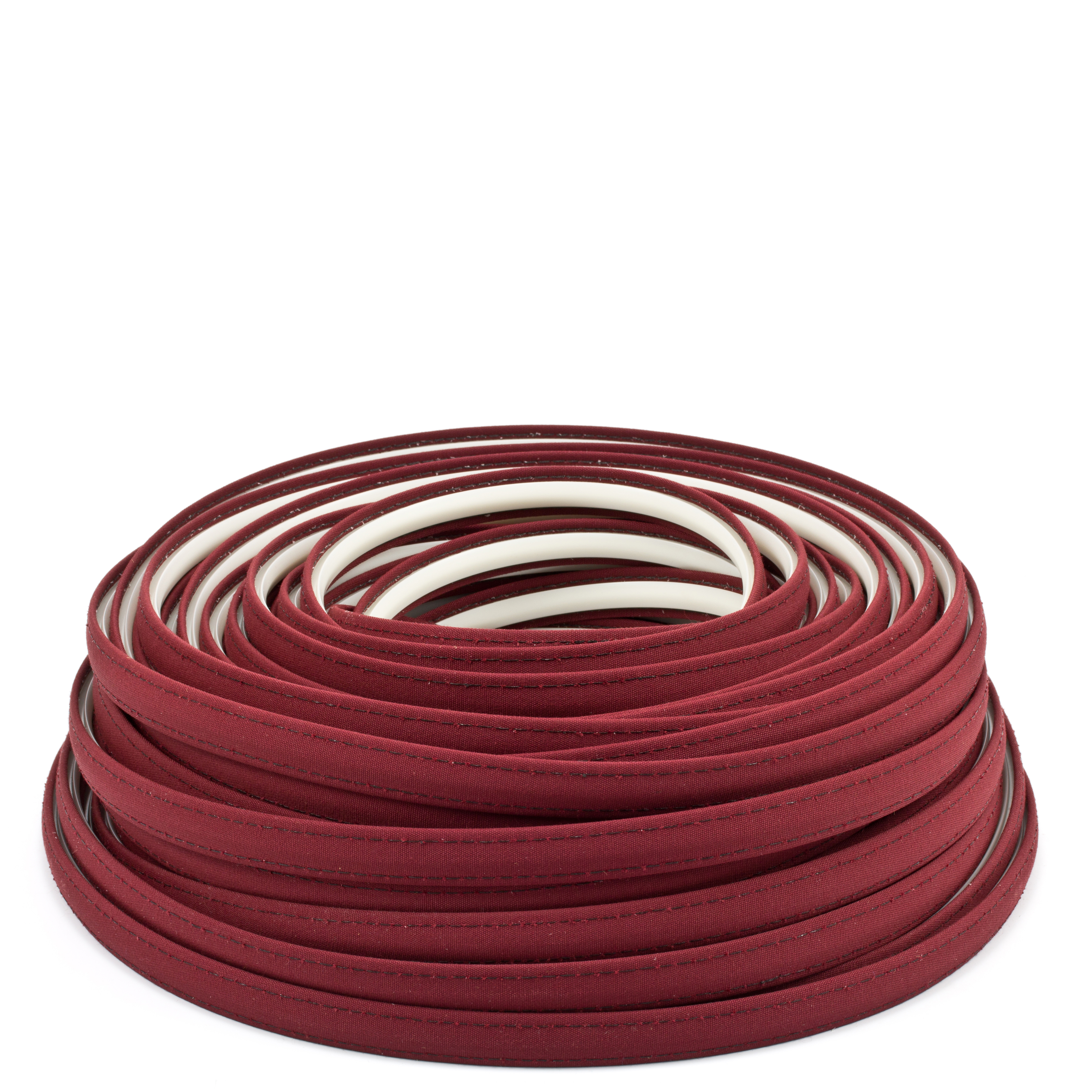 Thumbnail Steel Stitch Sunbrella Covered ZipStrip with Tenara Thread #4631 Burgundy 160' Full Rolls Only 0