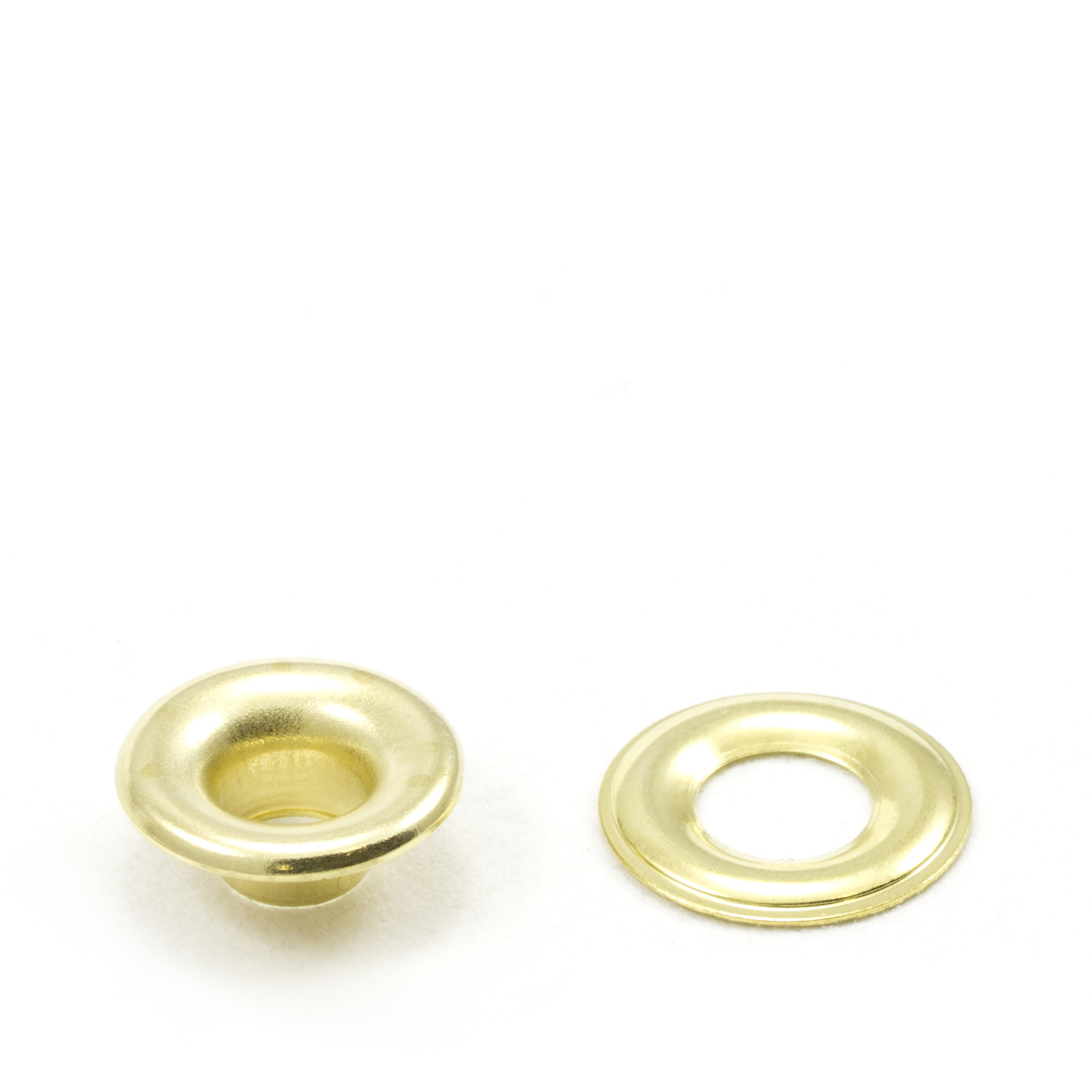 Thumbnail Grommet with Plain Washer #00 Brass 3/16 1