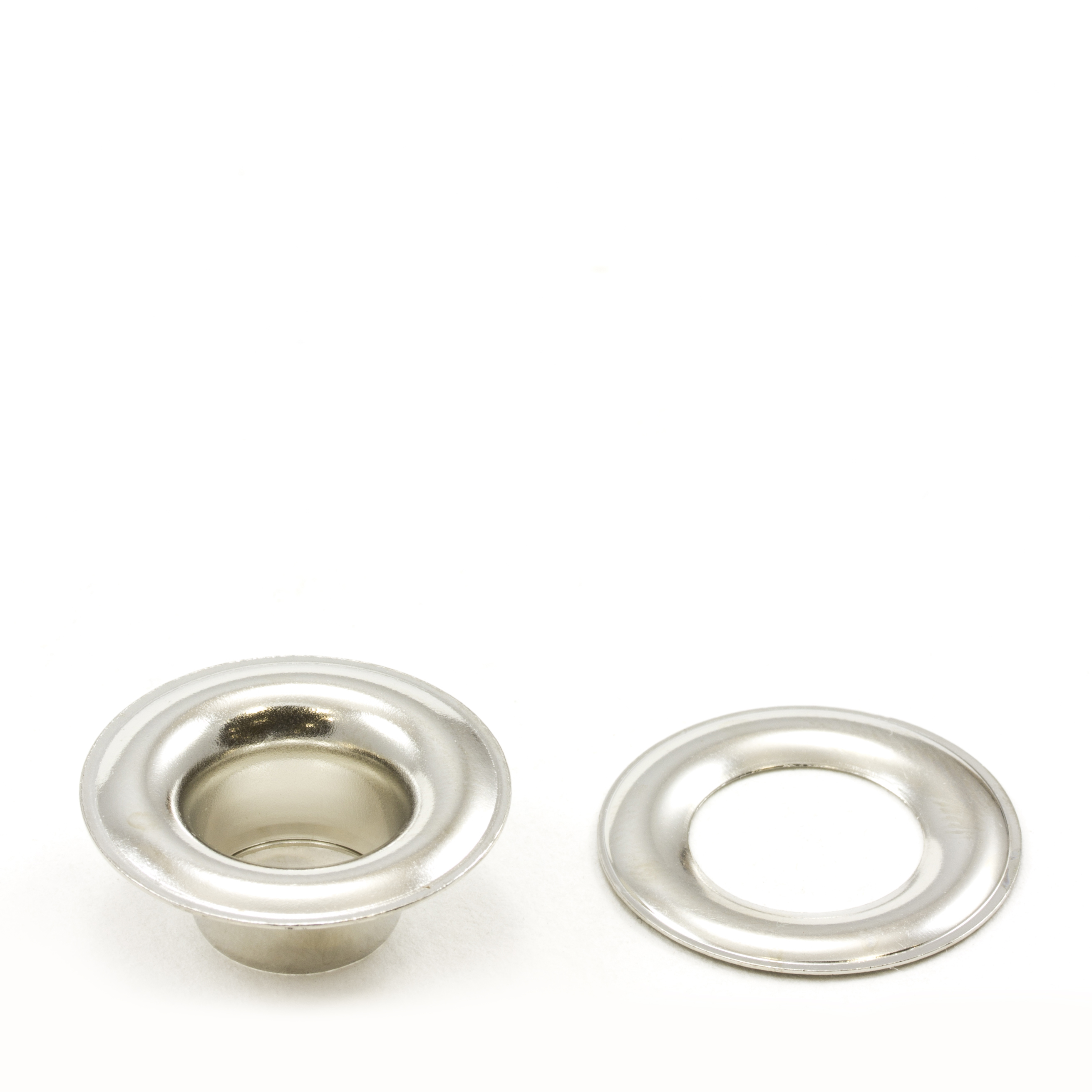 Thumbnail Grommet with Plain Washer #4 Brass Nickel Plated 1/2 1