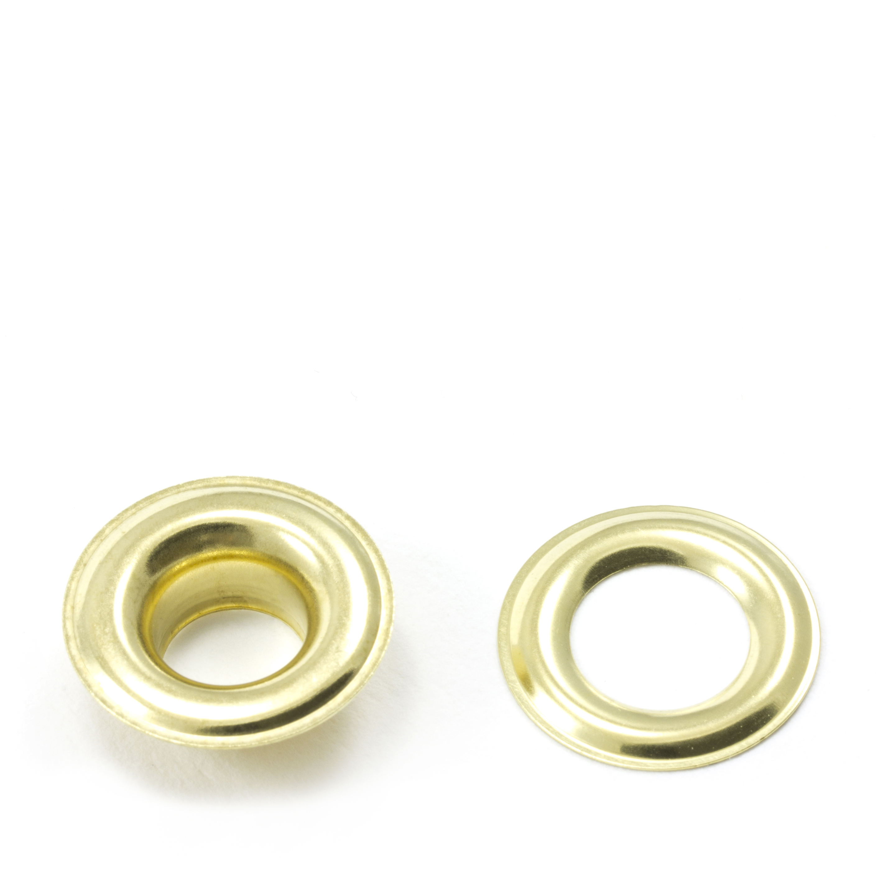 Thumbnail Grommet with Plain Washer #3 Brass 7/16 1