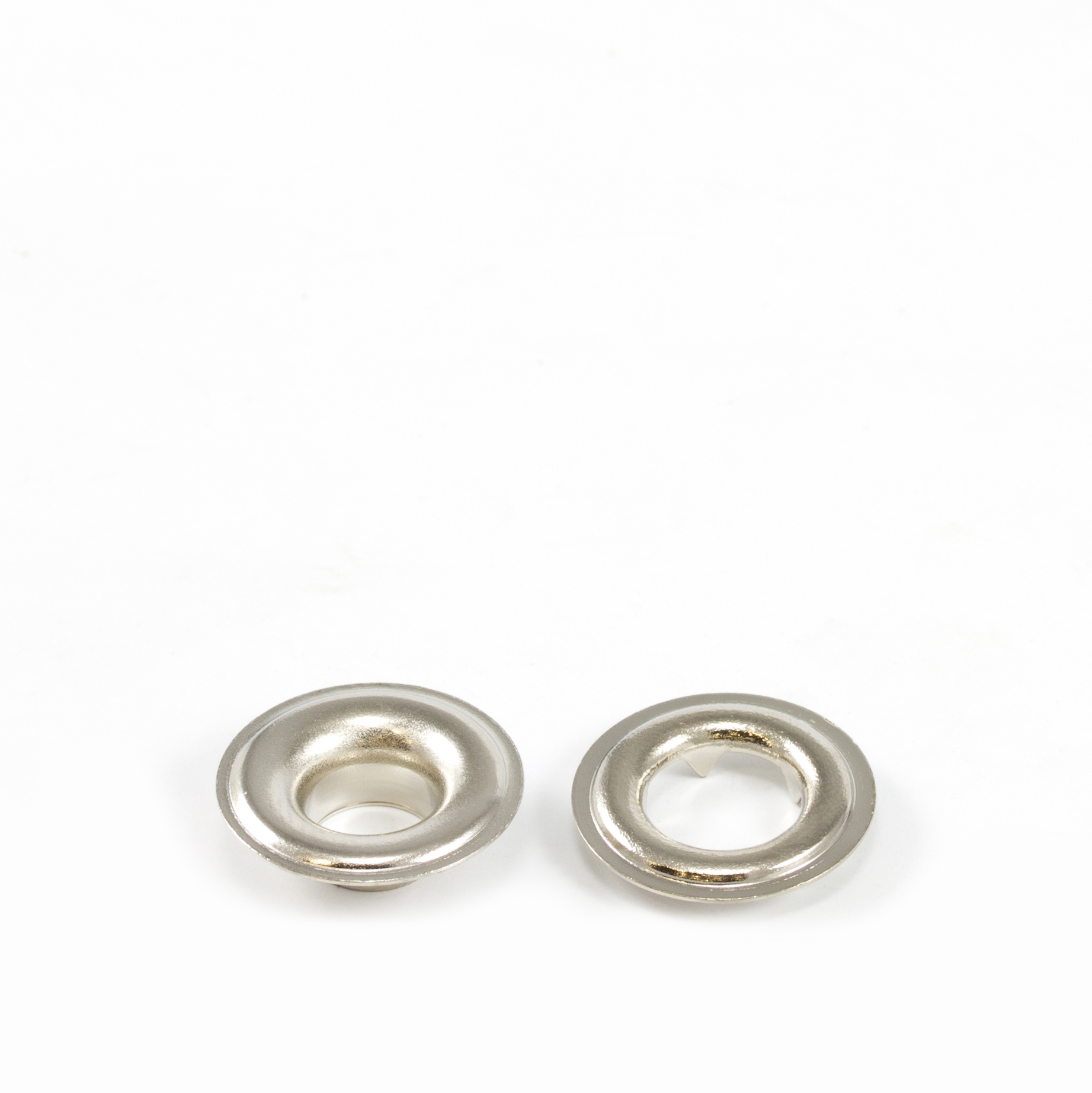 Thumbnail Grommet with Tooth Washer #1 Brass Nickel Plated 9/32 1