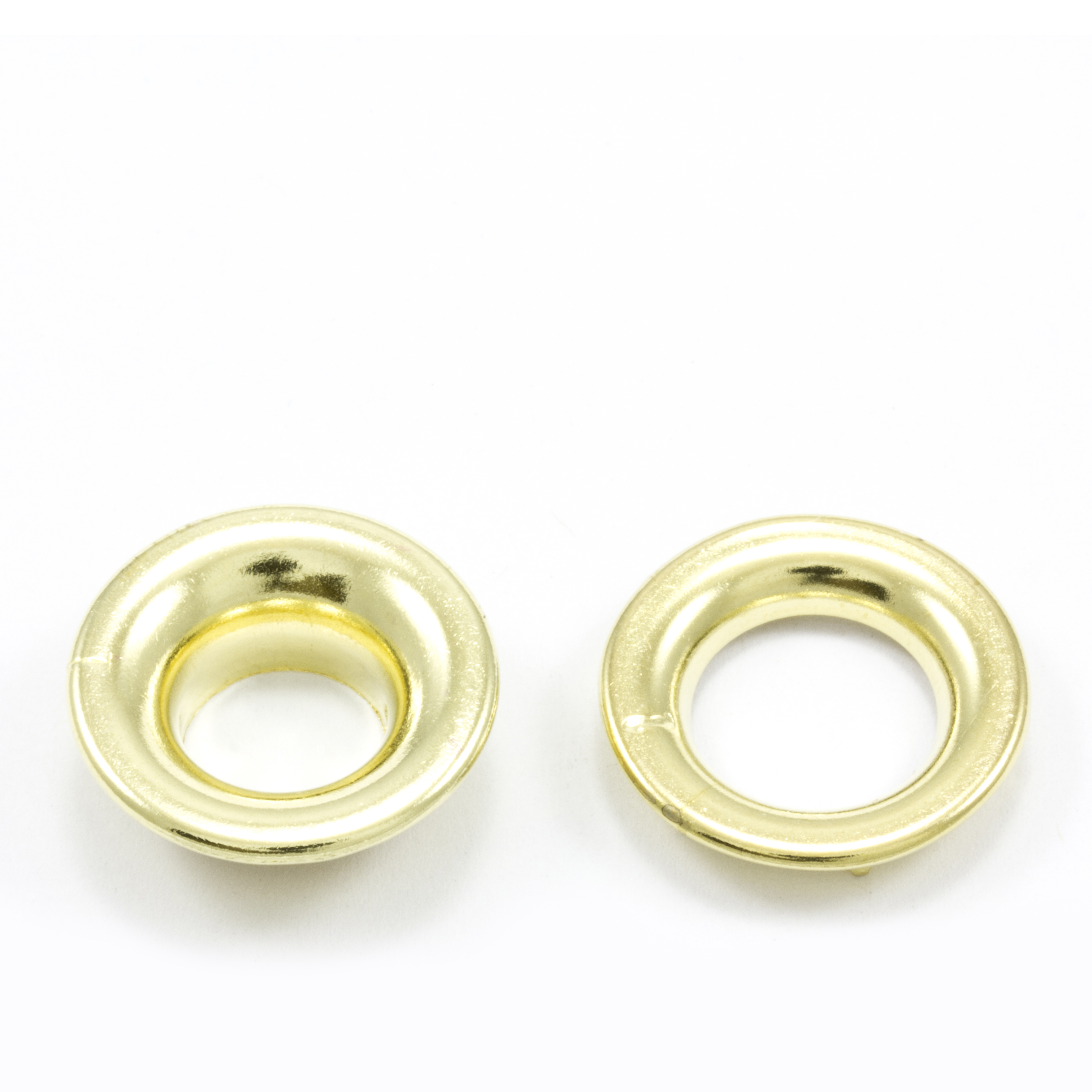 Thumbnail Rolled Rim Grommet with Spur Washer #1 Brass 13/32 1