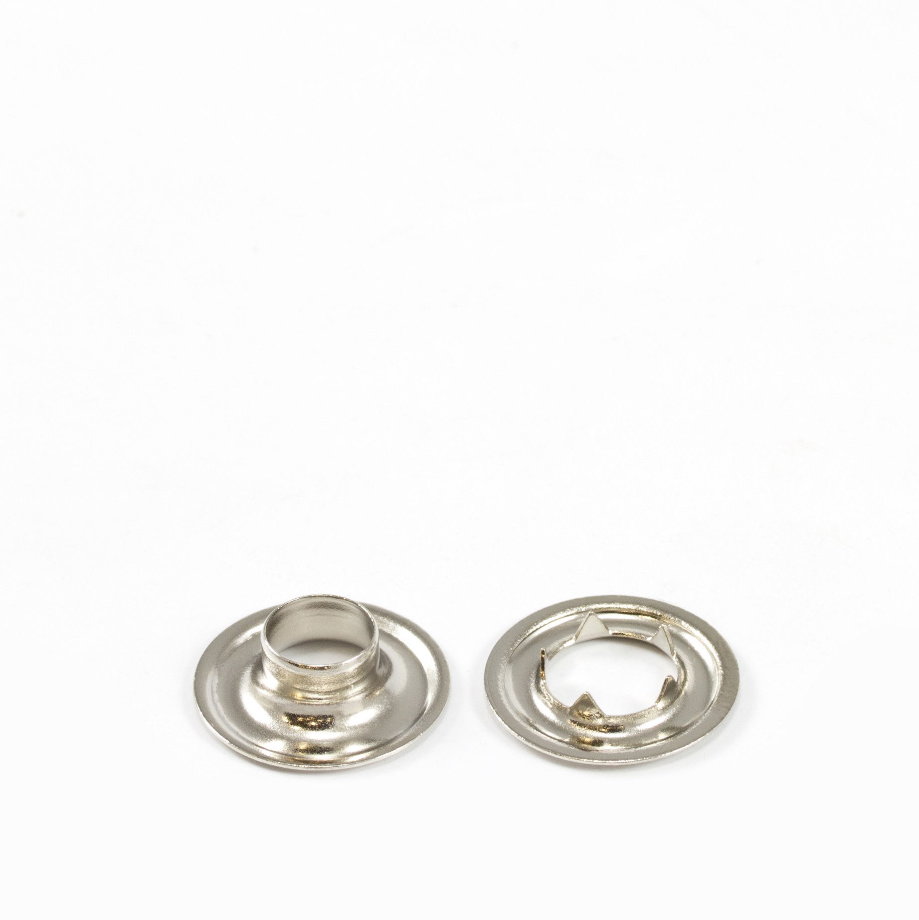Grommet with Tooth Washer #1 Brass Nickel Plated 9/32