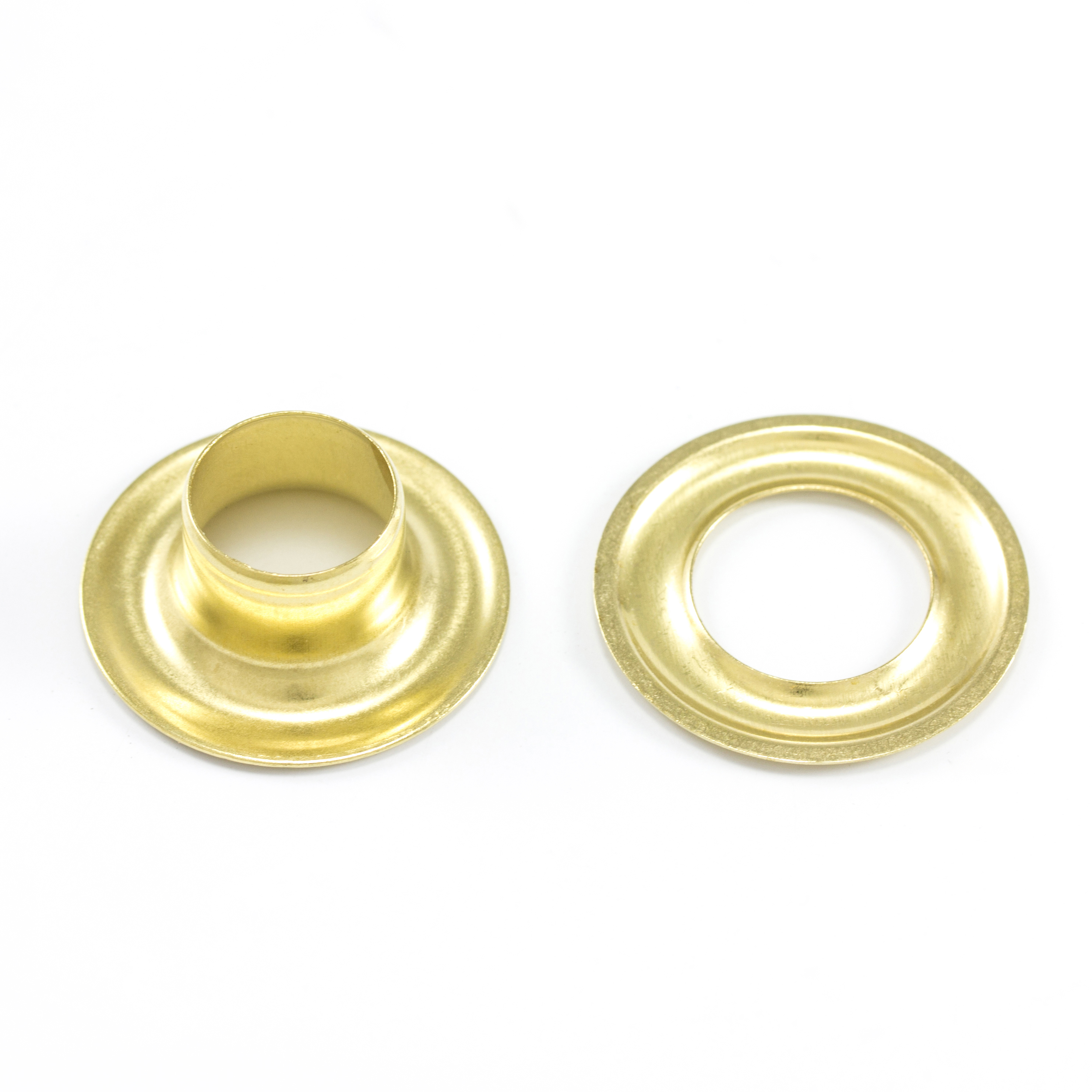 DOT Grommet with Plain Washer #4 Brass 1/2