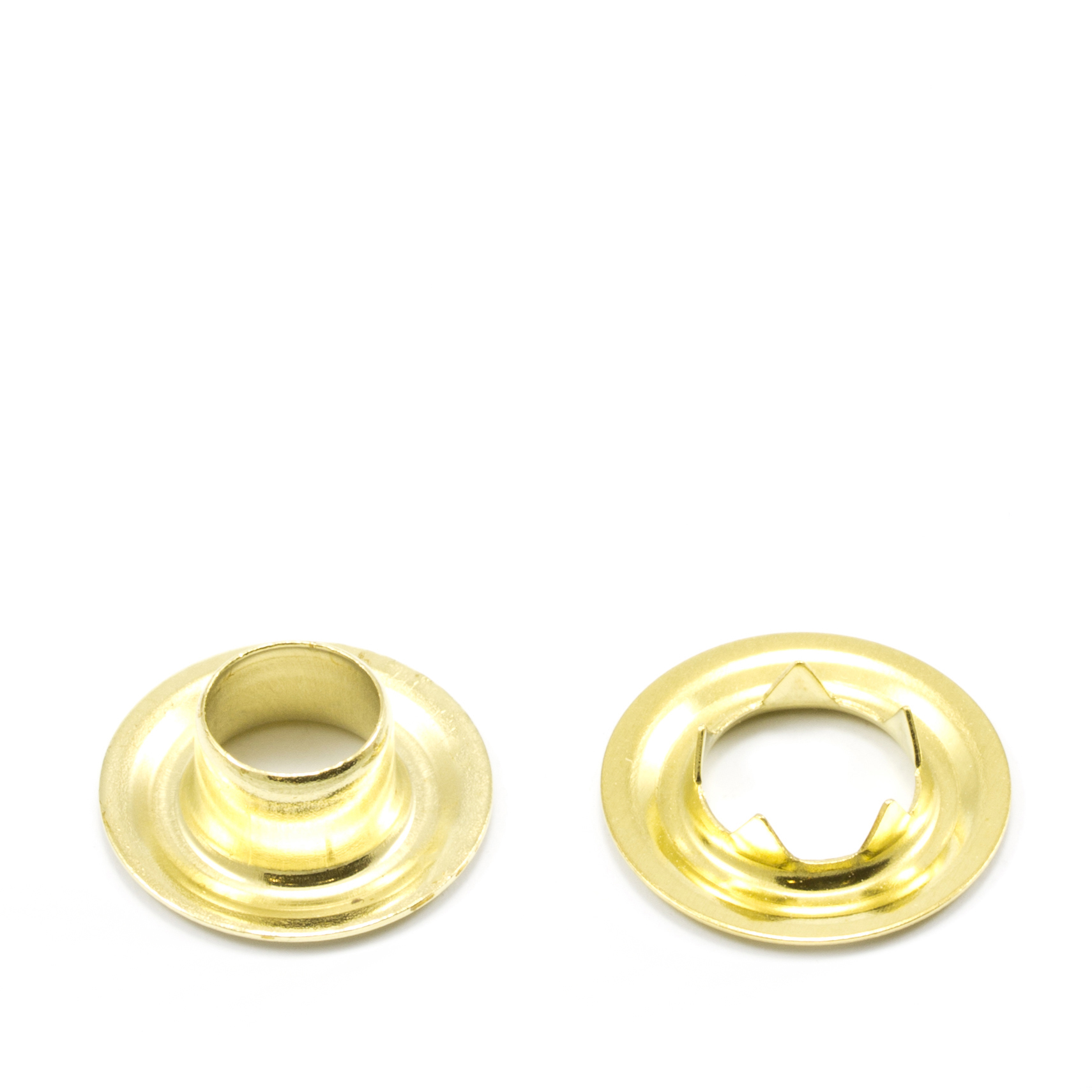 Grommet with Tooth Washer #0 Brass 1/4