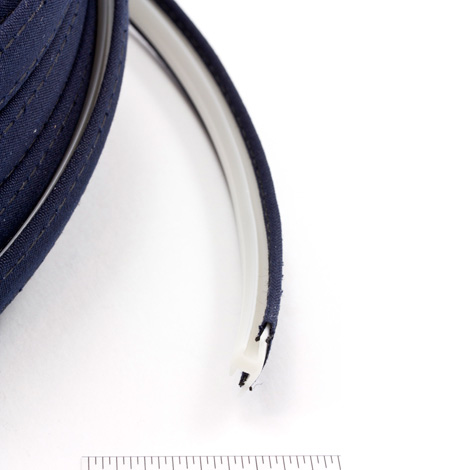 Thumbnail Steel Stitch Sunbrella Covered ZipStrip #6026 Navy 160' Full Rolls Only 2