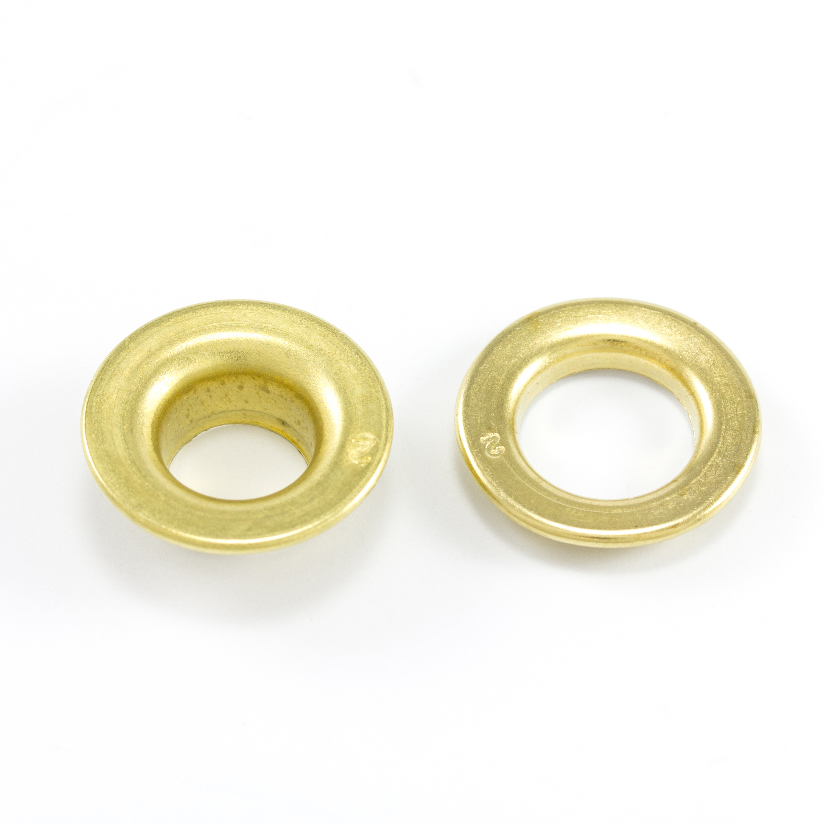 Thumbnail DOT Rolled Rim Grommet with Spur Washer #2 Brass 7/16 1