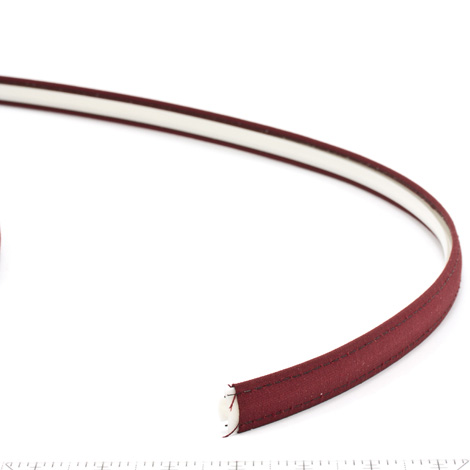 Thumbnail Steel Stitch Sunbrella Covered ZipStrip with Tenara Thread #4631 Burgundy 160' Full Rolls Only 2