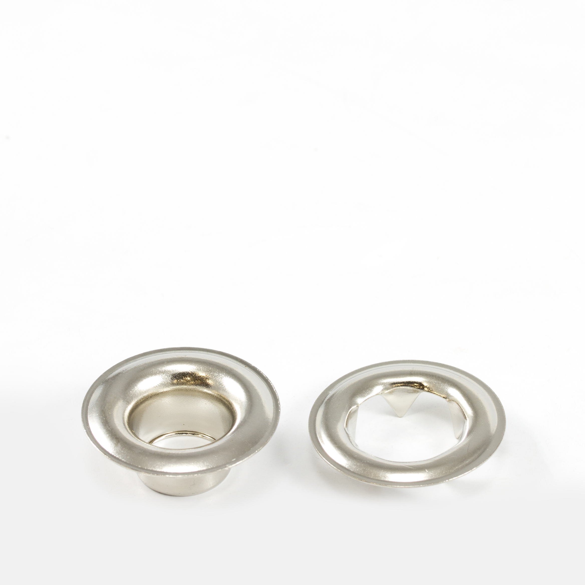 Thumbnail Grommet with Tooth Washer #4 Brass Nickel Plated 1/2 1