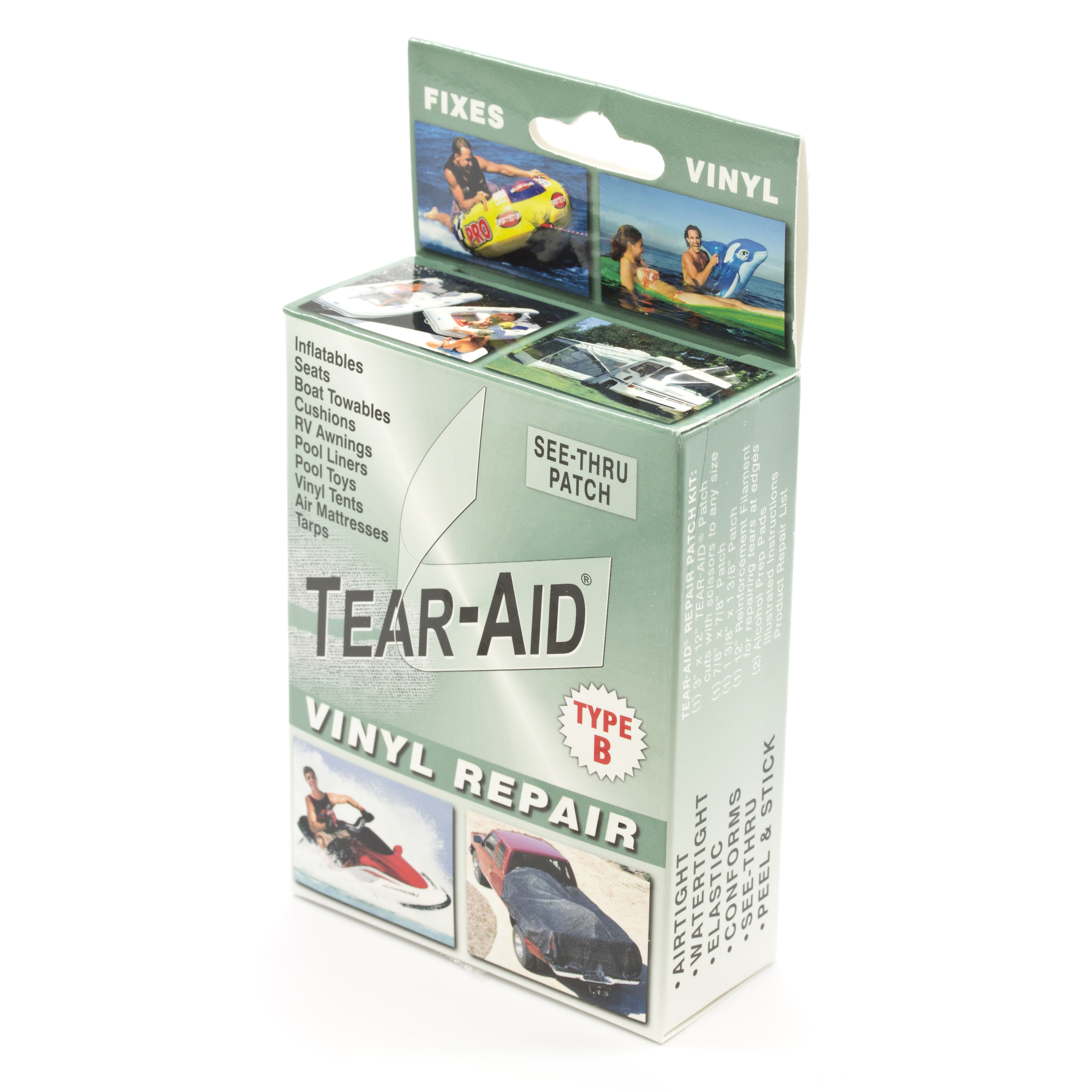 Tear Aid Retail Patch Kit Vinyl Type B 20 Pack With Display Trivantage
