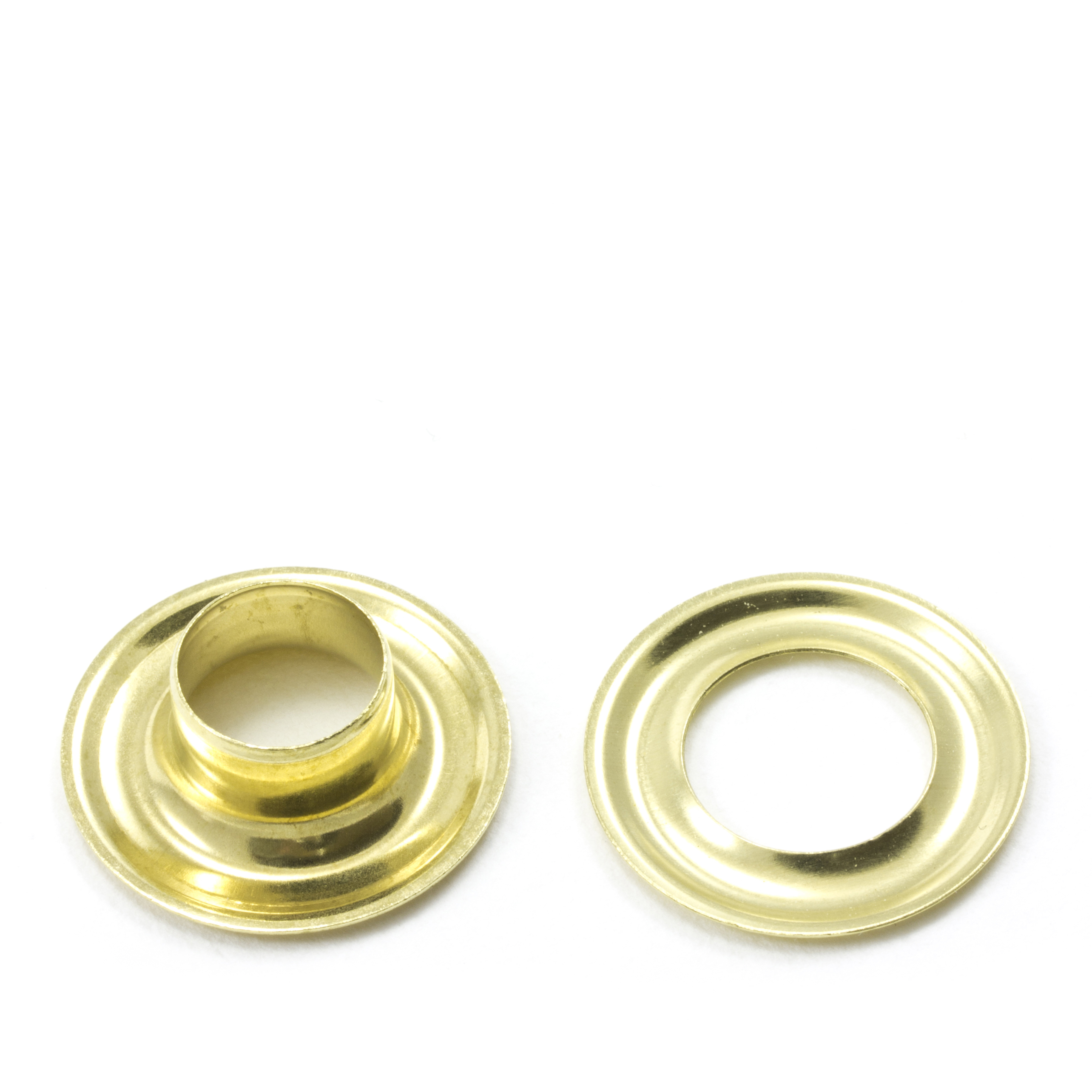 Grommet with Plain Washer #3 Brass 7/16