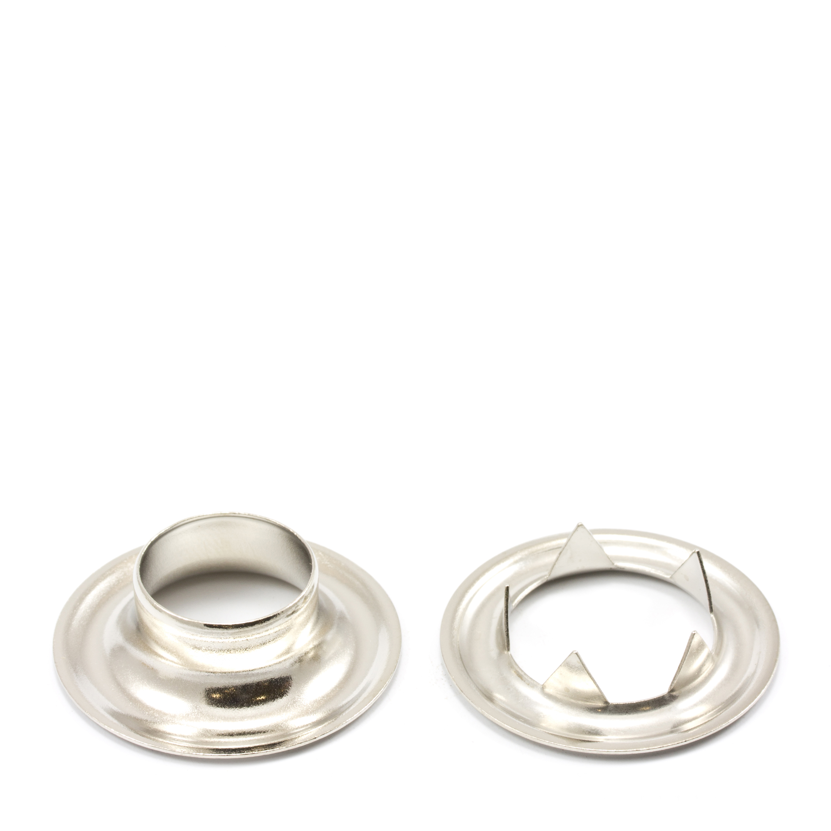 Grommet with Tooth Washer #5 Brass Nickel Plated 5/8