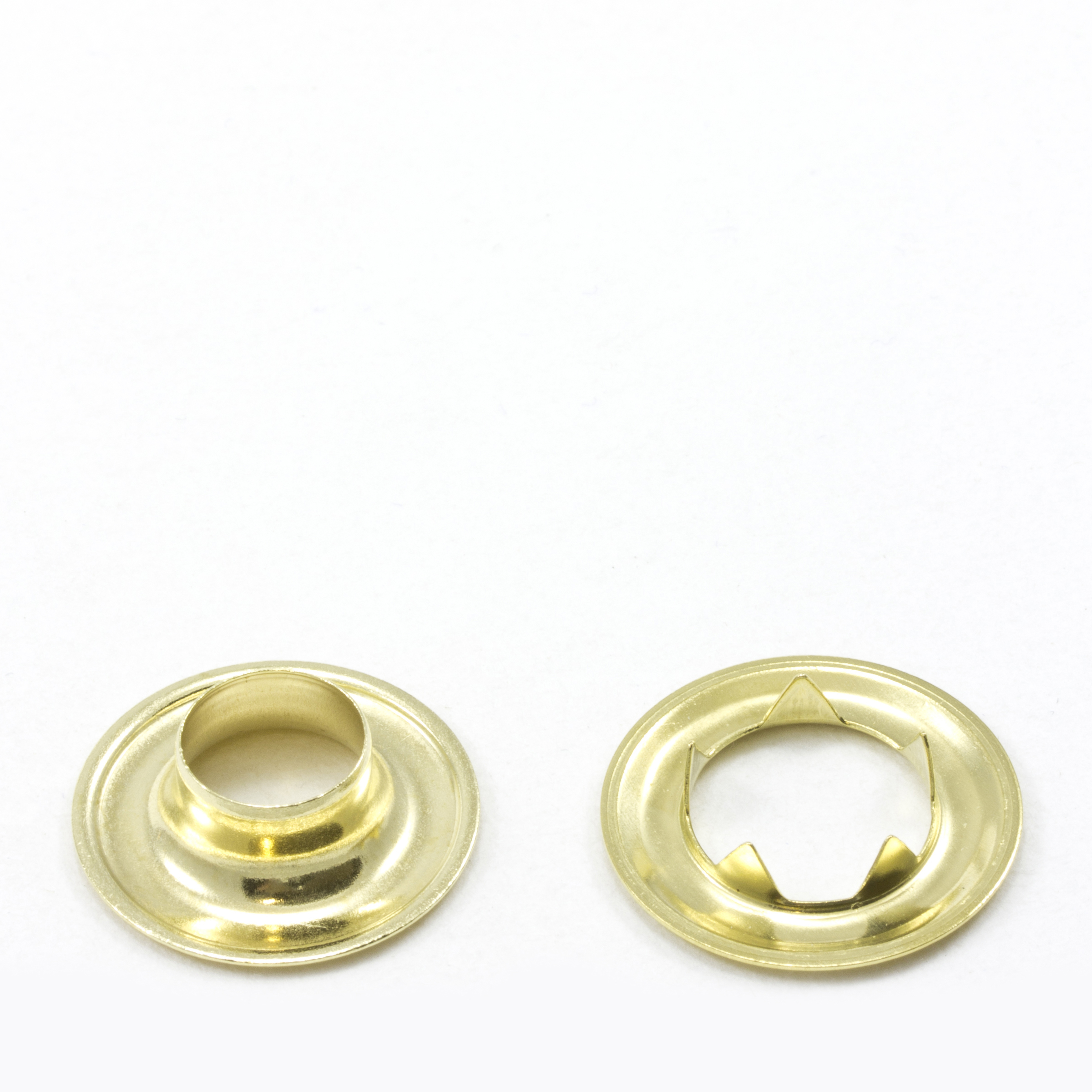 Grommet with Tooth Washer #2 Brass 3/8