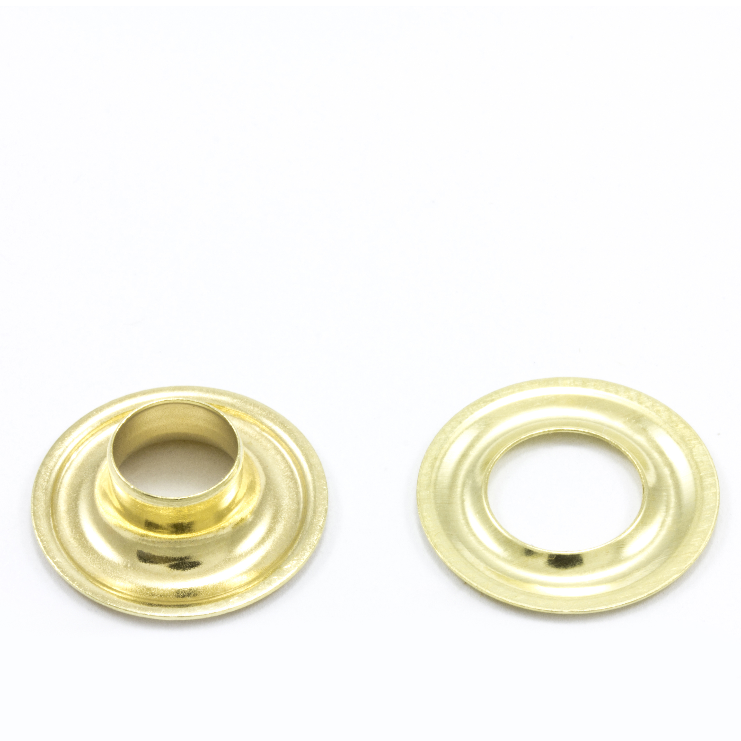 Grommet with Plain Washer #1 Brass 9/32
