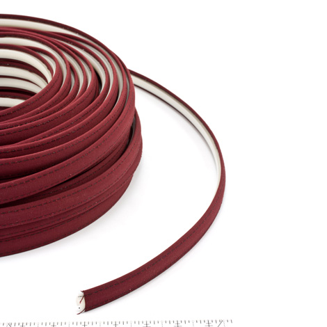 Thumbnail Steel Stitch Sunbrella Covered ZipStrip with Tenara Thread #4631 Burgundy 160' Full Rolls Only 1